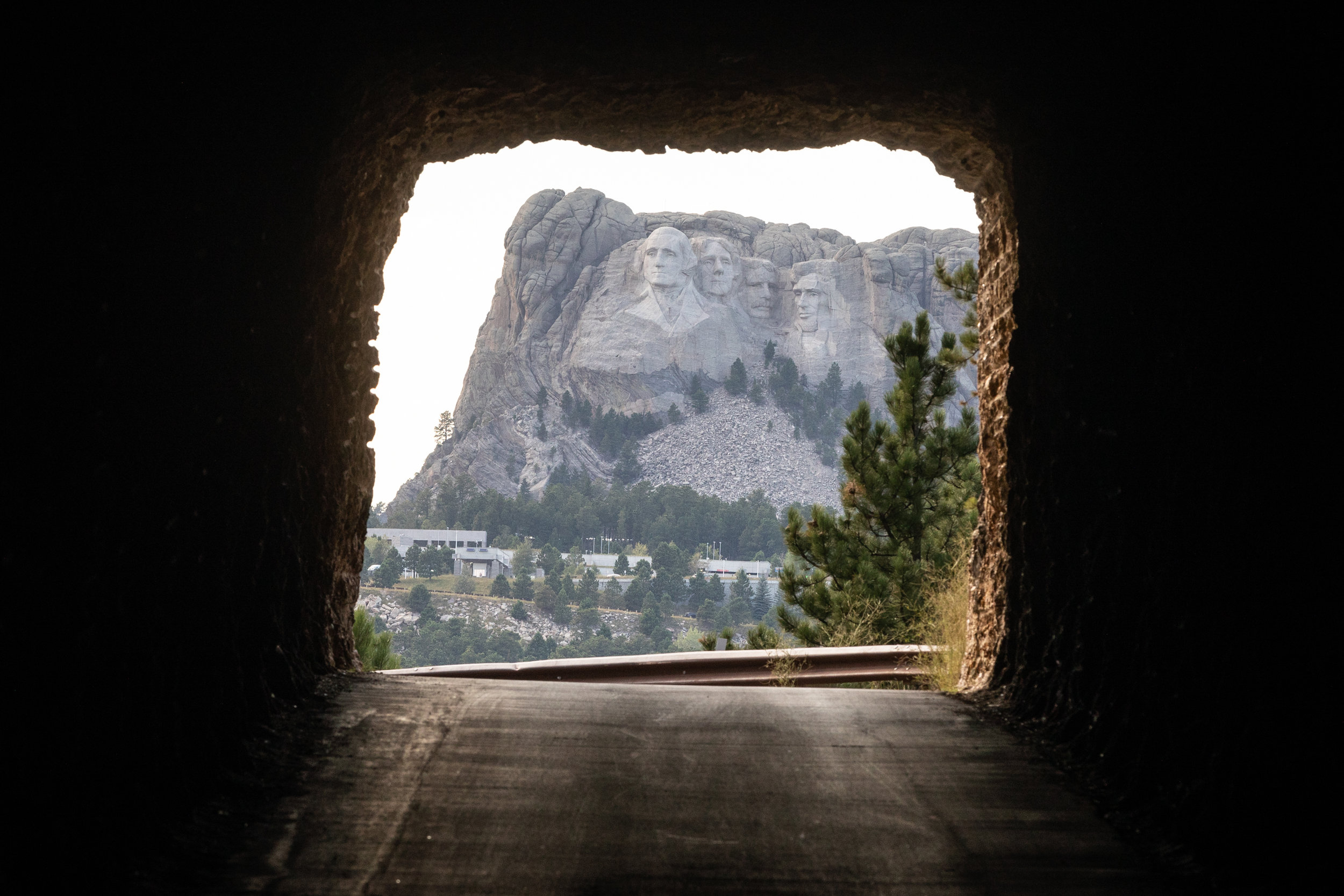 Mount Rushmore viewed through the Doane Robinson Tunnel on Iron Mountain Road, Custer State Park, South Dakota [August, 2018]
