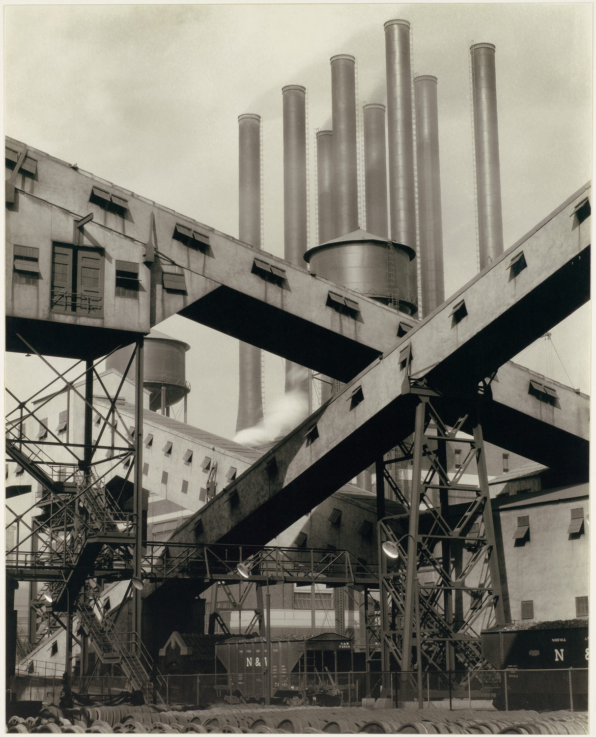Criss-Crossed Conveyors, River Rouge Plant, Ford Motor Company - From The Met