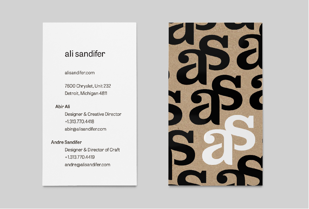 Ali Sandifer Custom Furniture Brand Identity Design