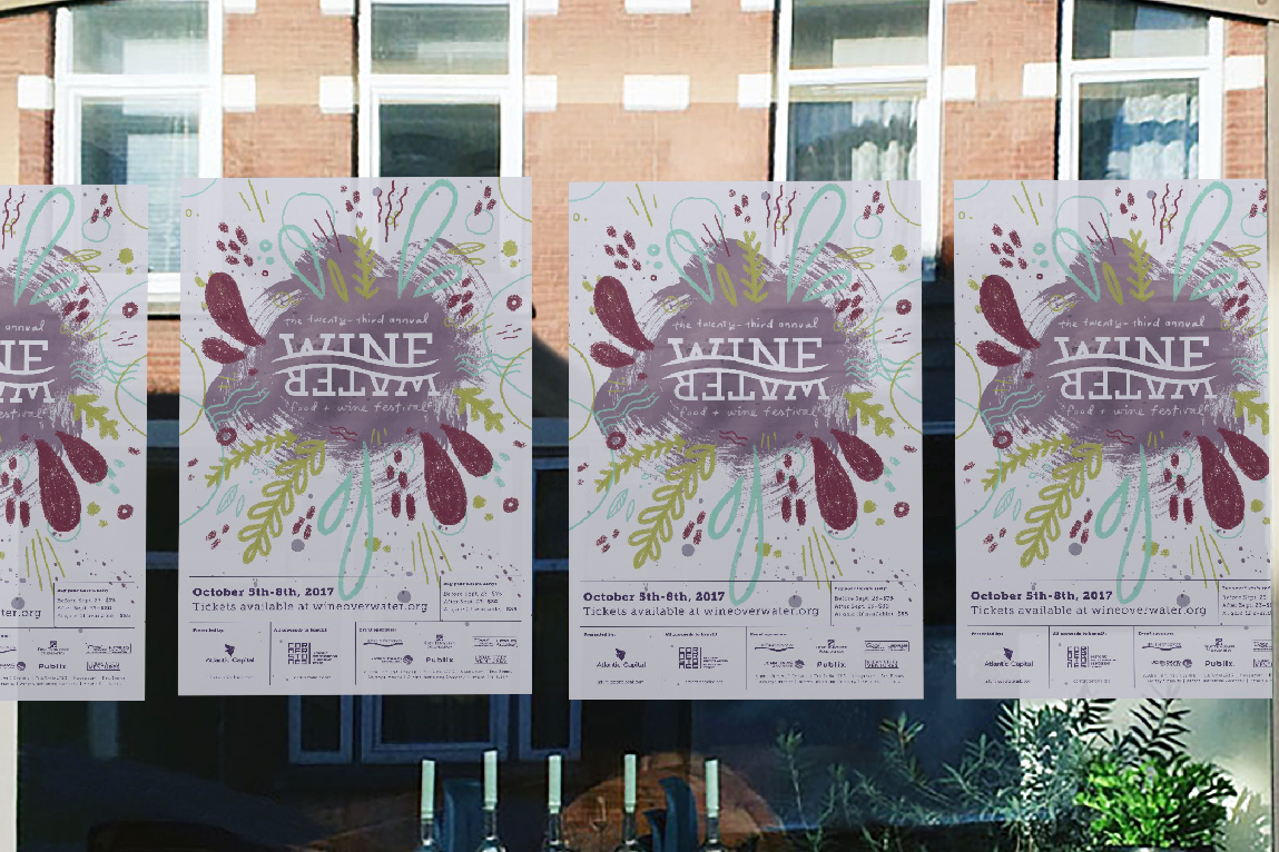 Wine Over Water Food and Wine Festival 2017 Design