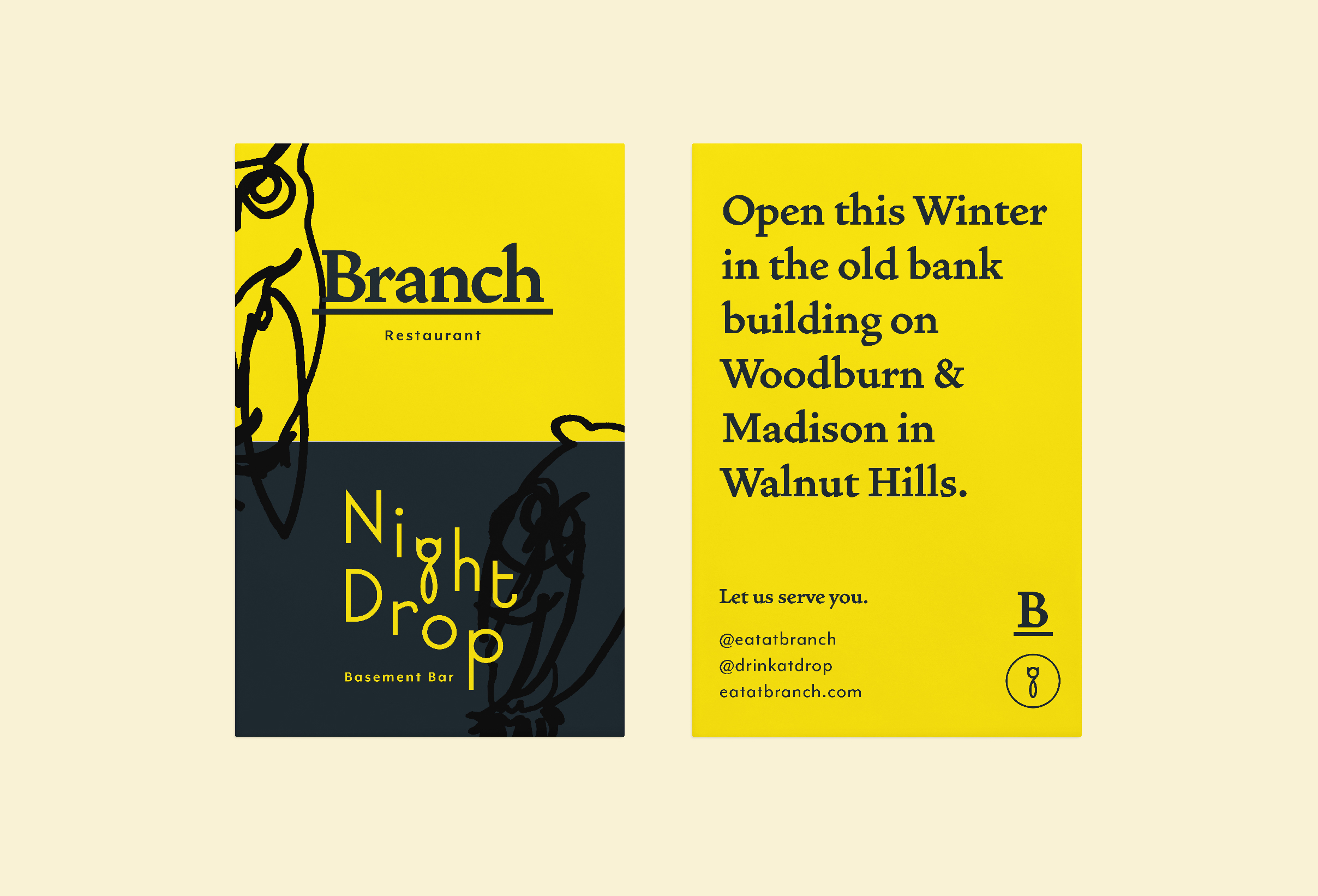 Announcement Card for Branch & Night Drop.