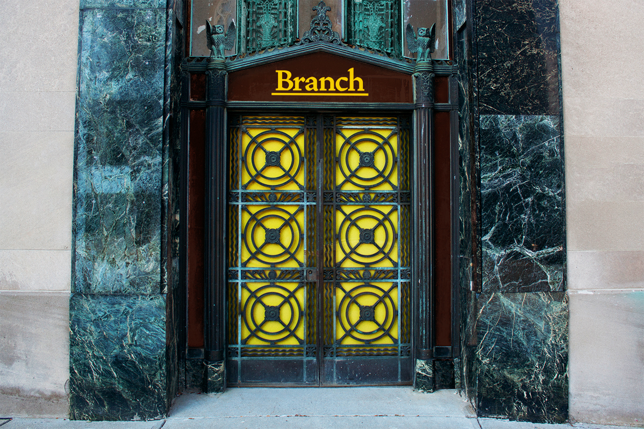 Front entrance to Branch.