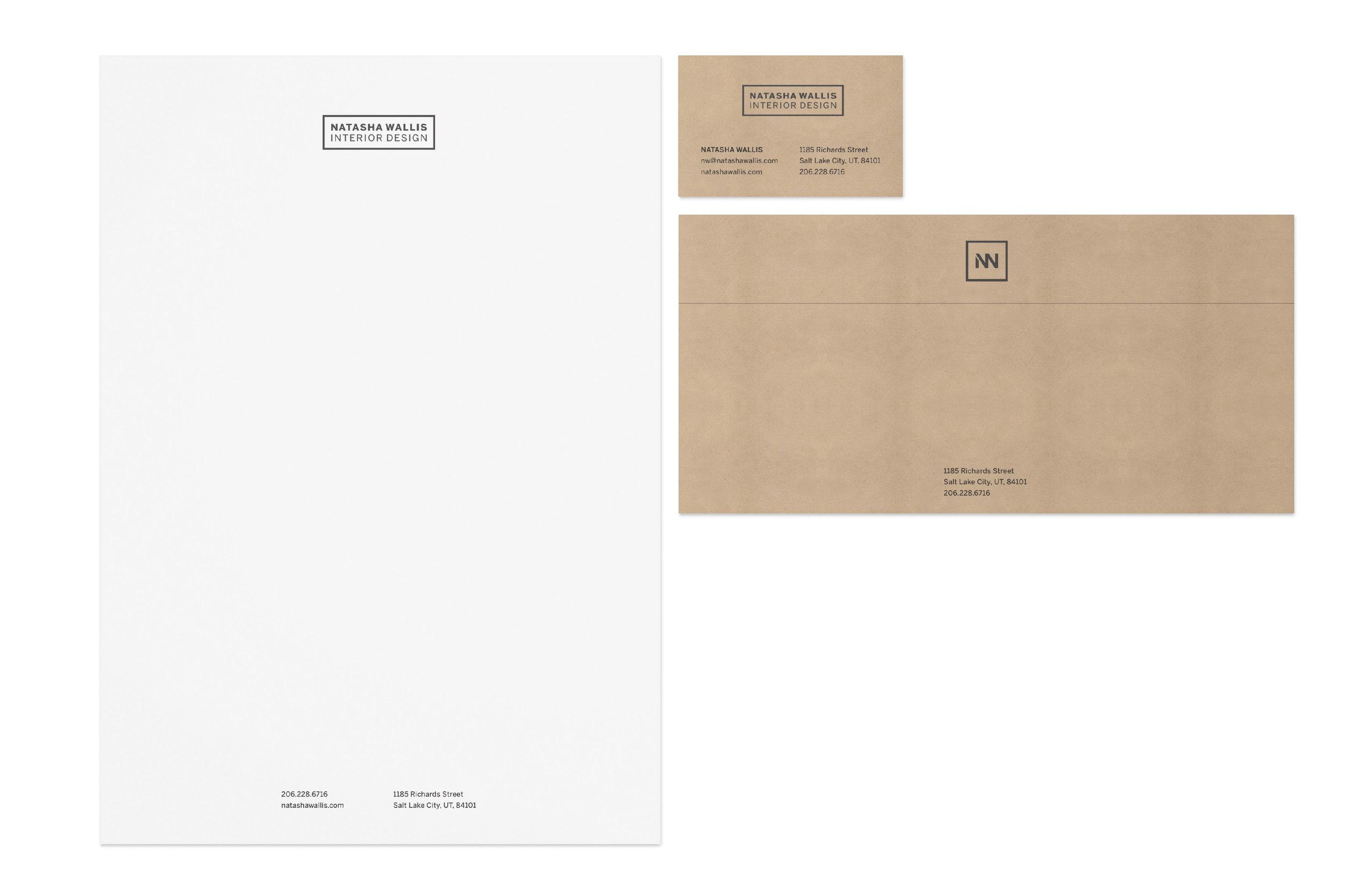 Stationery for Natasha Wallis Interior Design