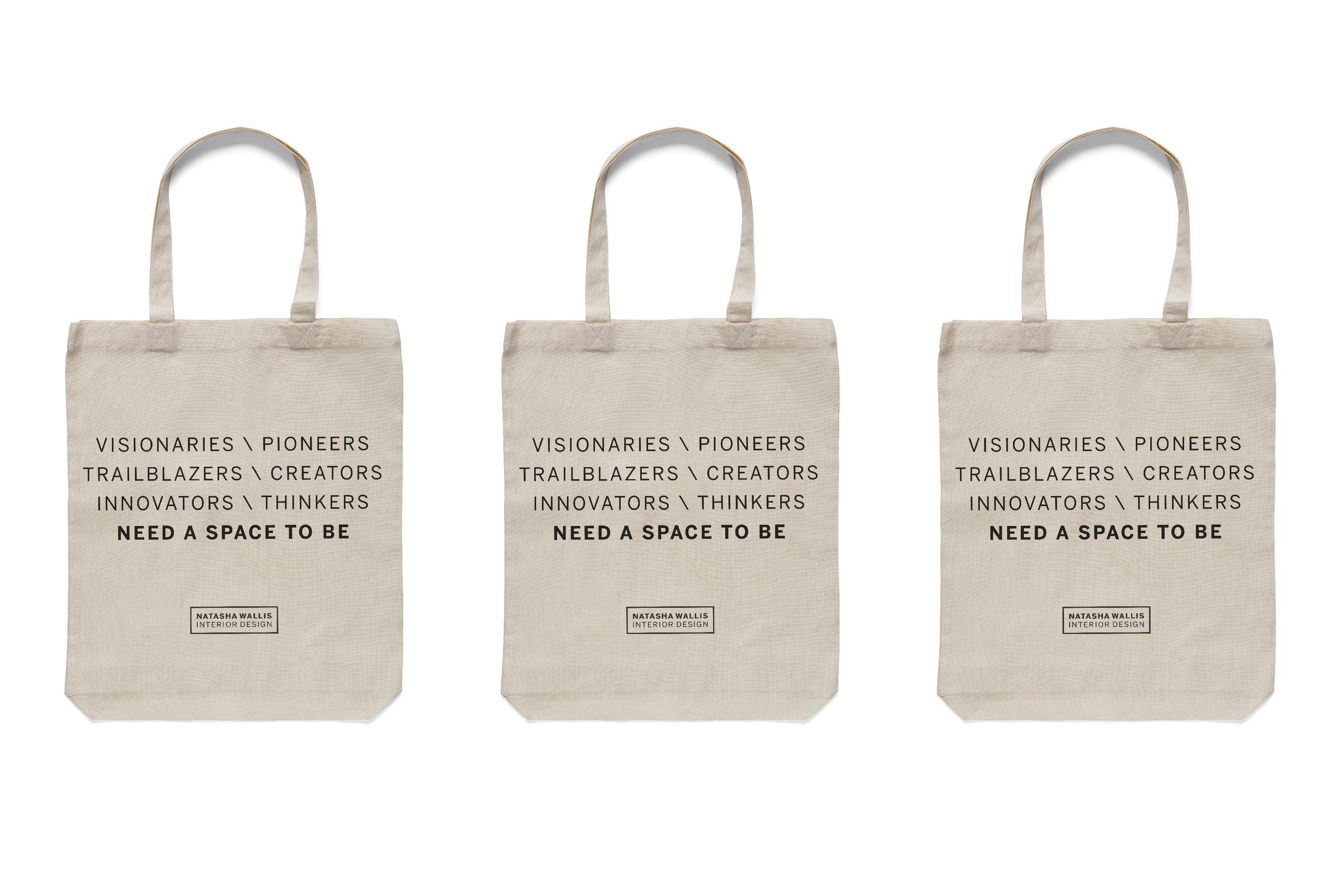 Tote bags for Natasha Wallis Interior Design.