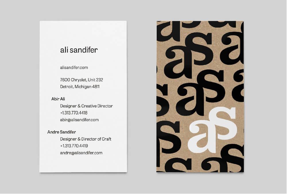 Ali Sandifer Business Card