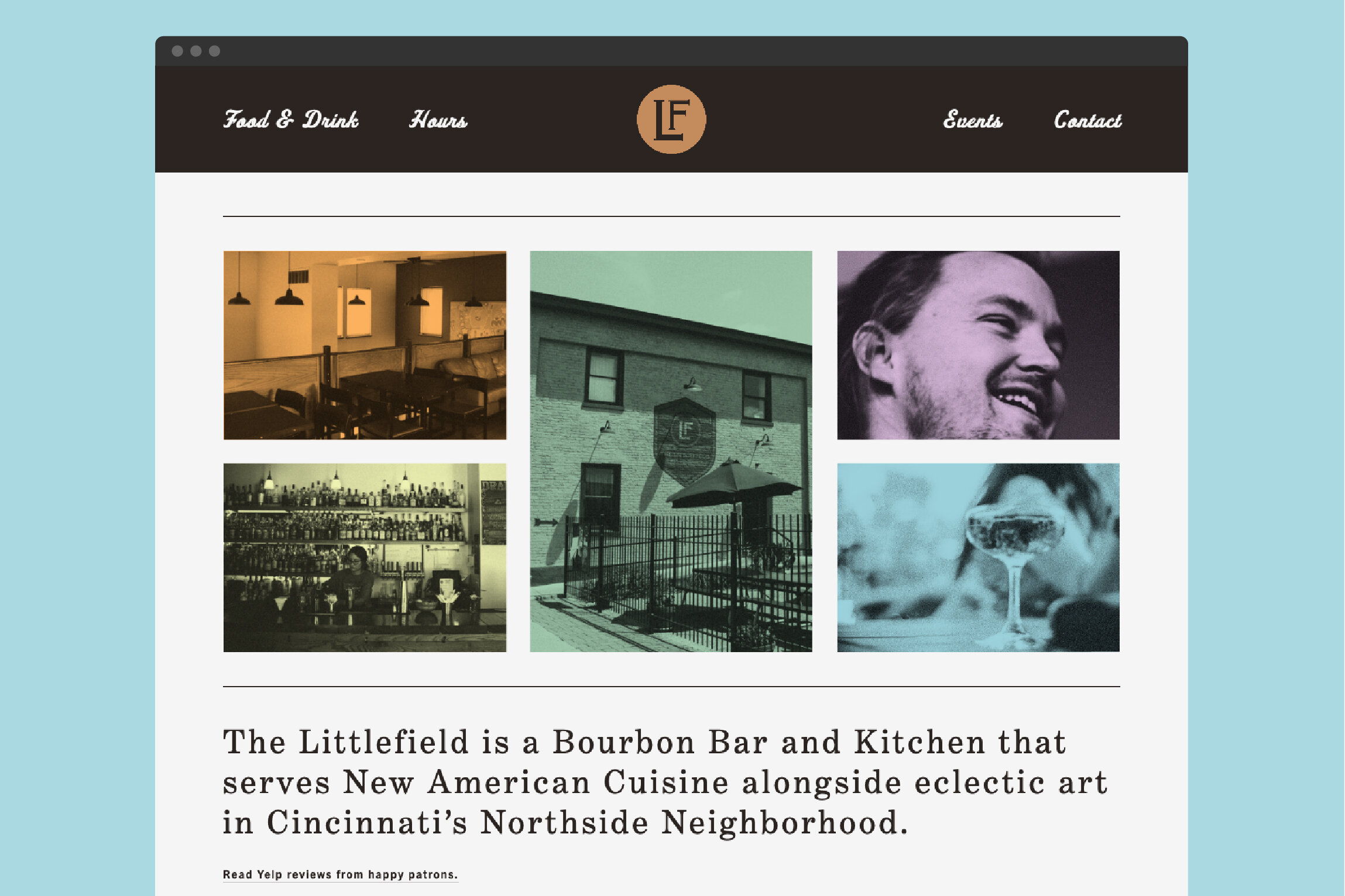 Home page for the Littlefield's new website