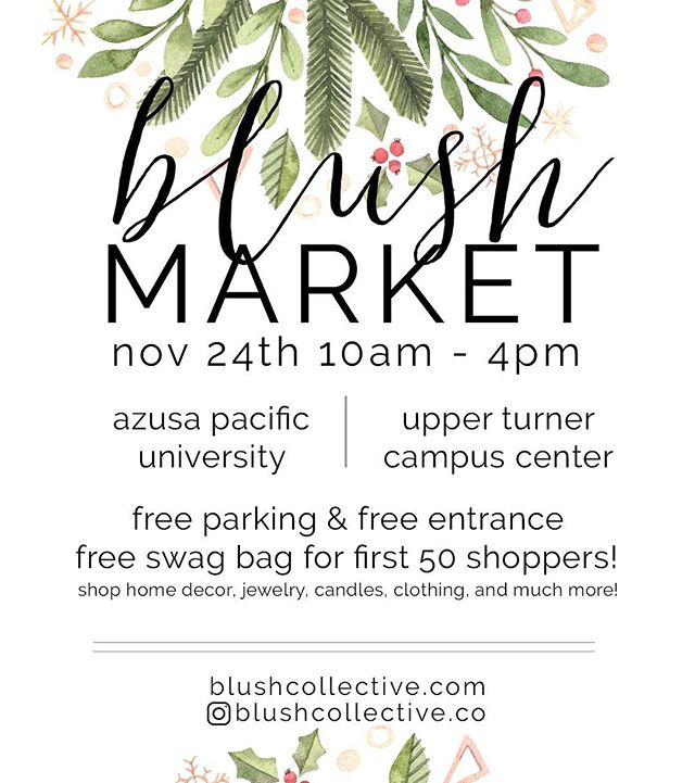 TODAY IS THE DAY! Join us in UTCC @ APU for our last Blush Market! It's #smallbusinesssaturday so there's come support your local lady vendors! 💕 Swipe for a map that will easily help you find parking & UTCC!