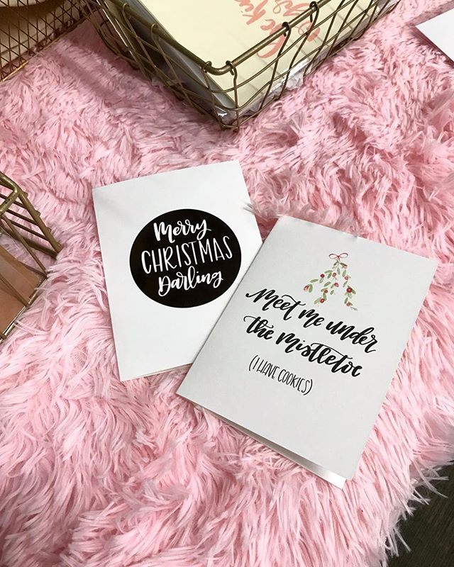 1.5 more hours to Shop Small @ Blush Market! How adorable are these cards from @darlingdaydream? She's got a deal going 😘