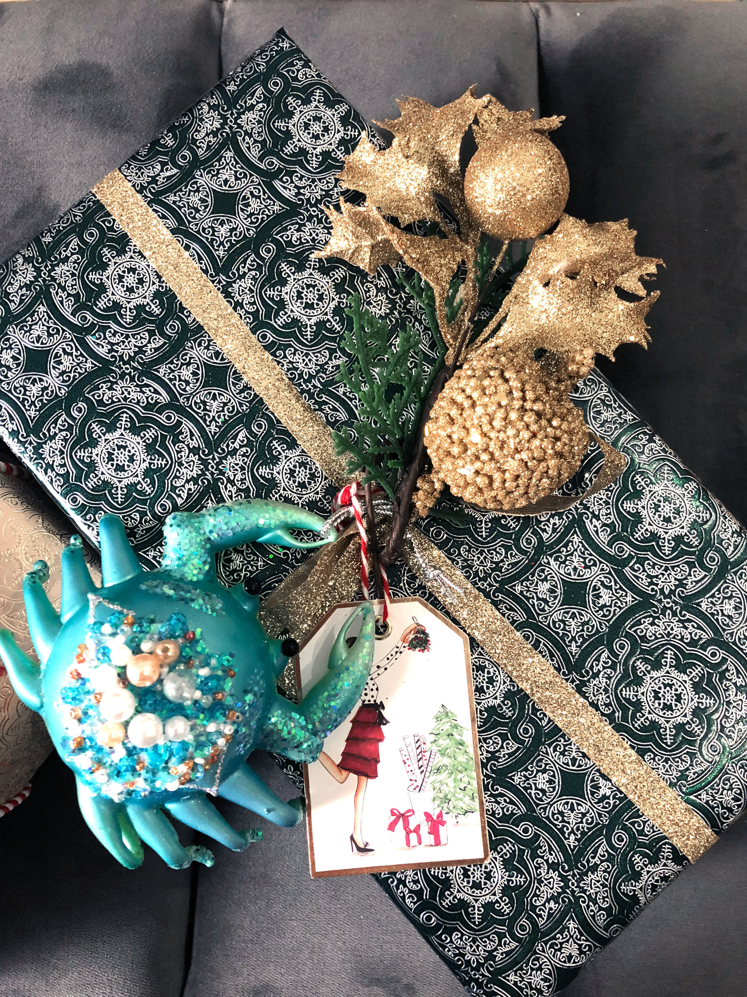 festive holiday wrapping - 12.18.17