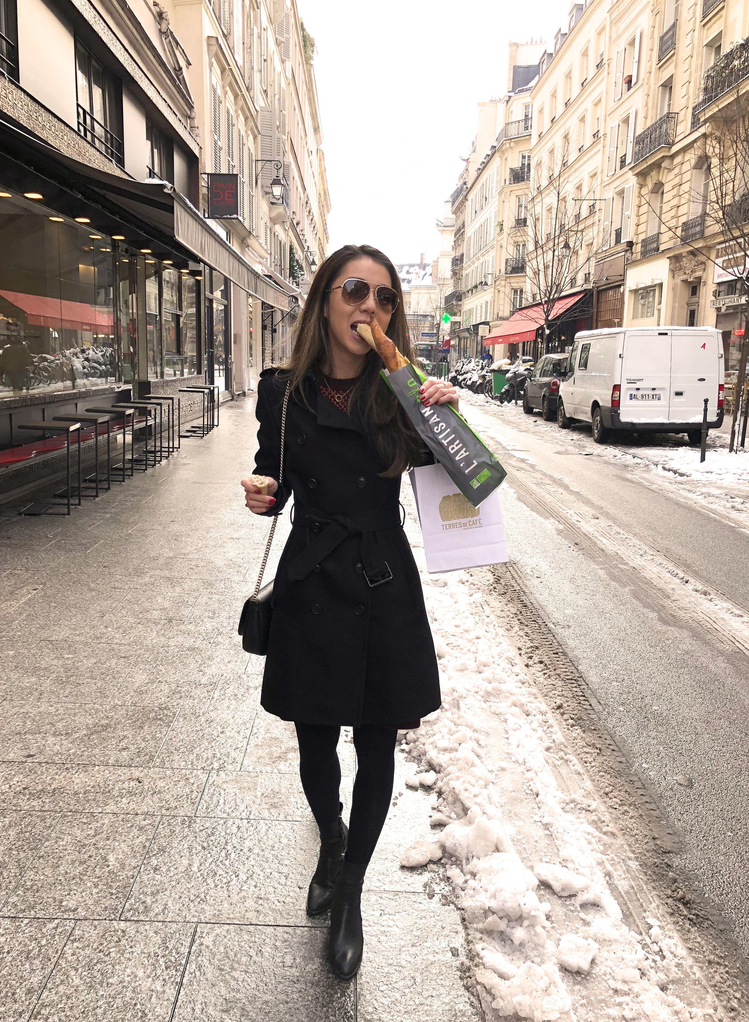 First stop: Grab a baguette from Pain de Sucre in Le Marais, Paris.