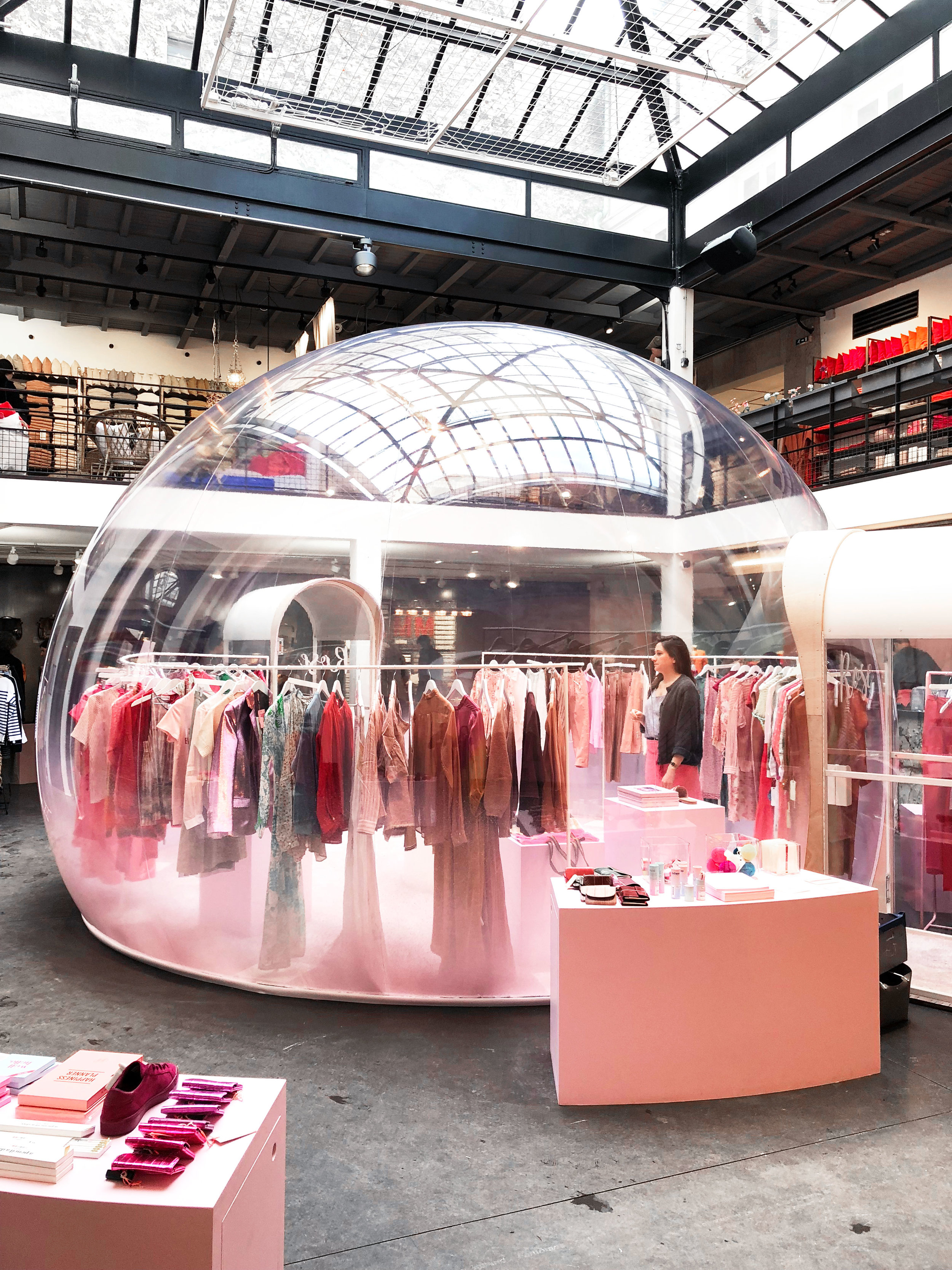 This was one of the cute boutiques in this store - it was in a bubble igloo!