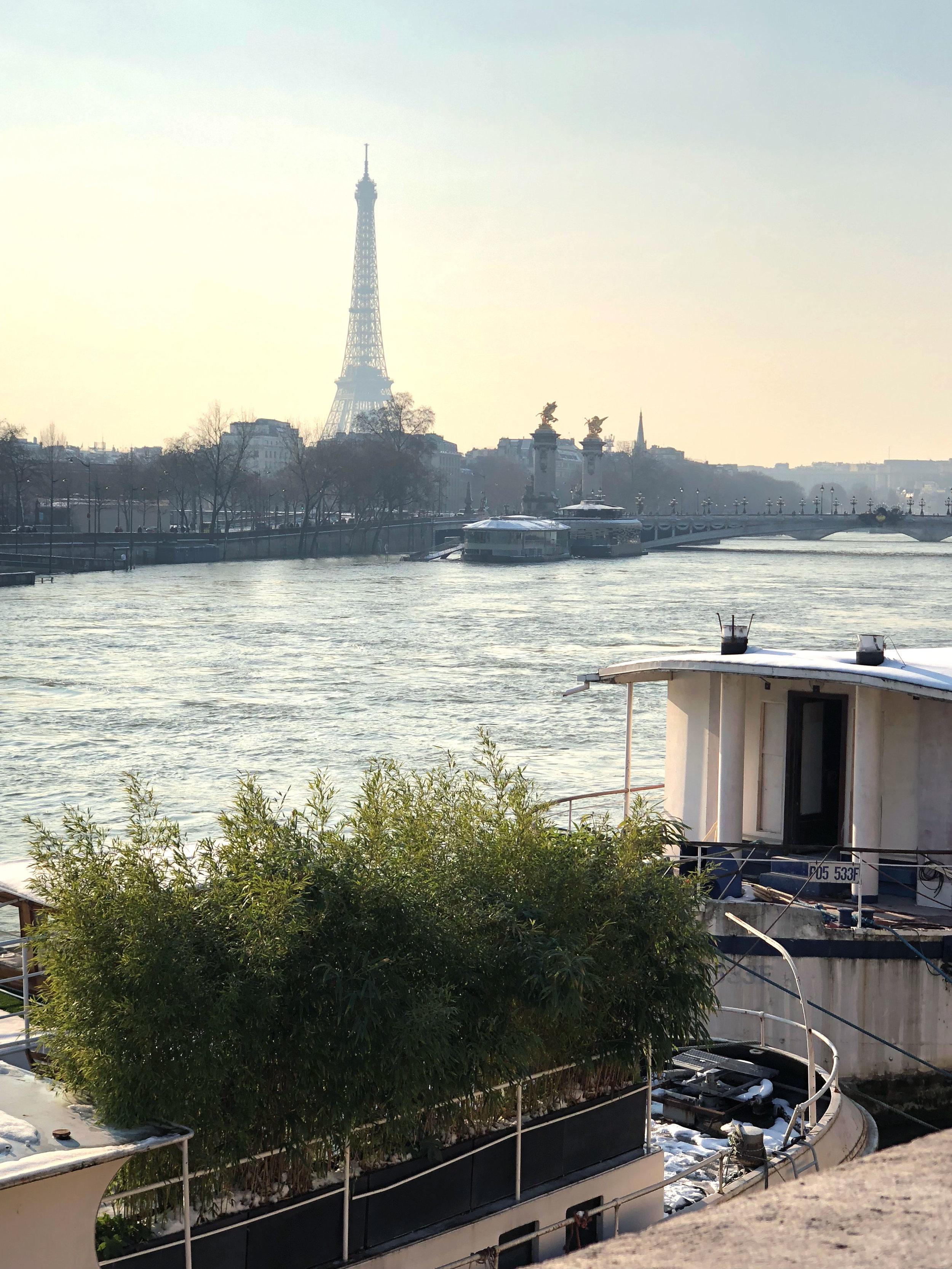 View of the Eiffel from Pont de la Concorde, Paris