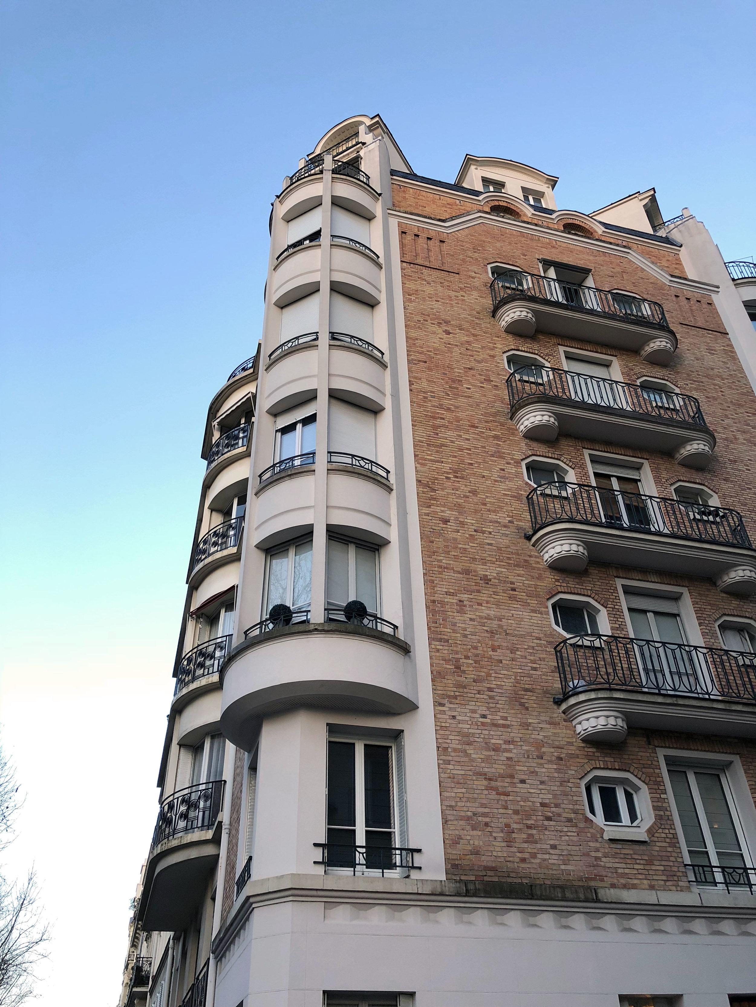 Modern Parisian architecture