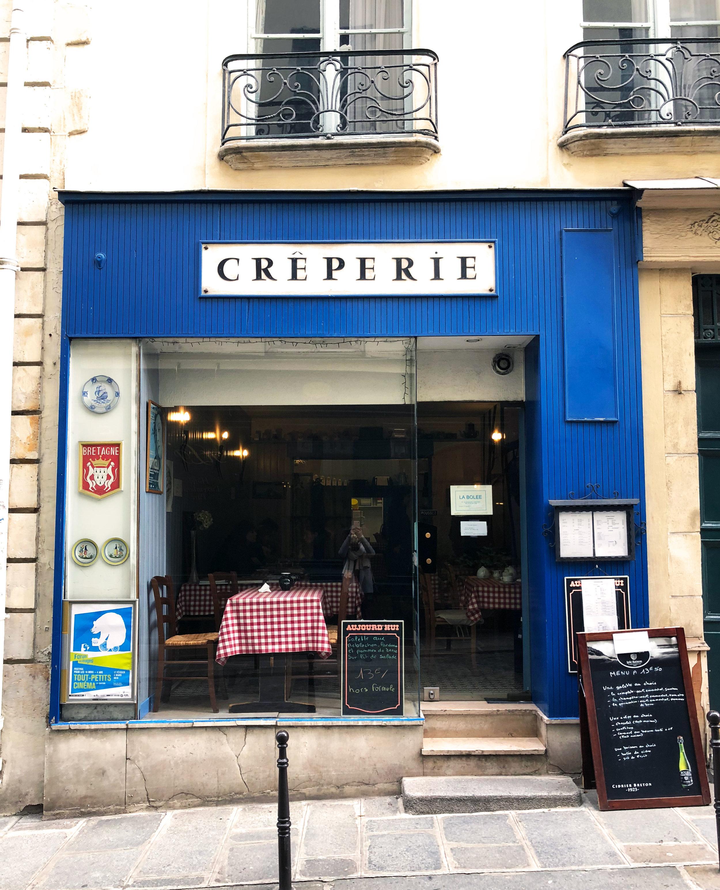 Creperie La Bolee in 6th Arr. near Luxembourg Gardens