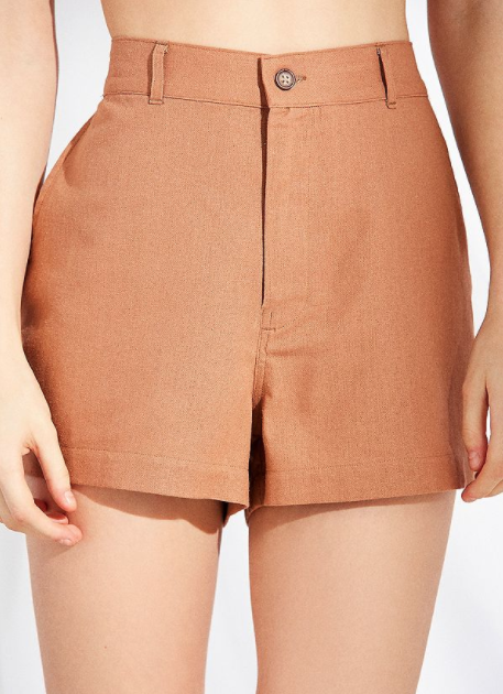 Brown Highwaisted Shorts