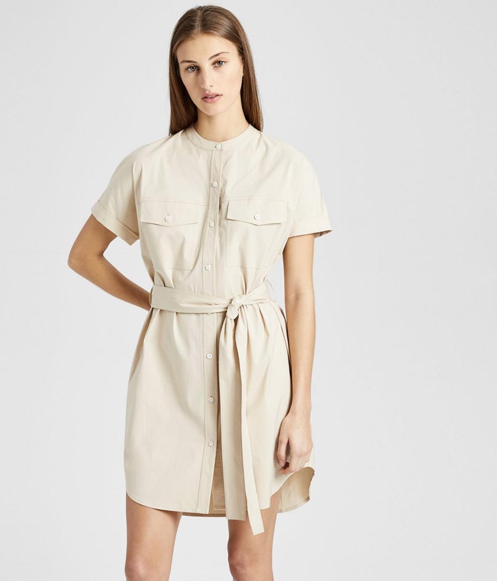 Theory Stretch Cotton Cargo Dress