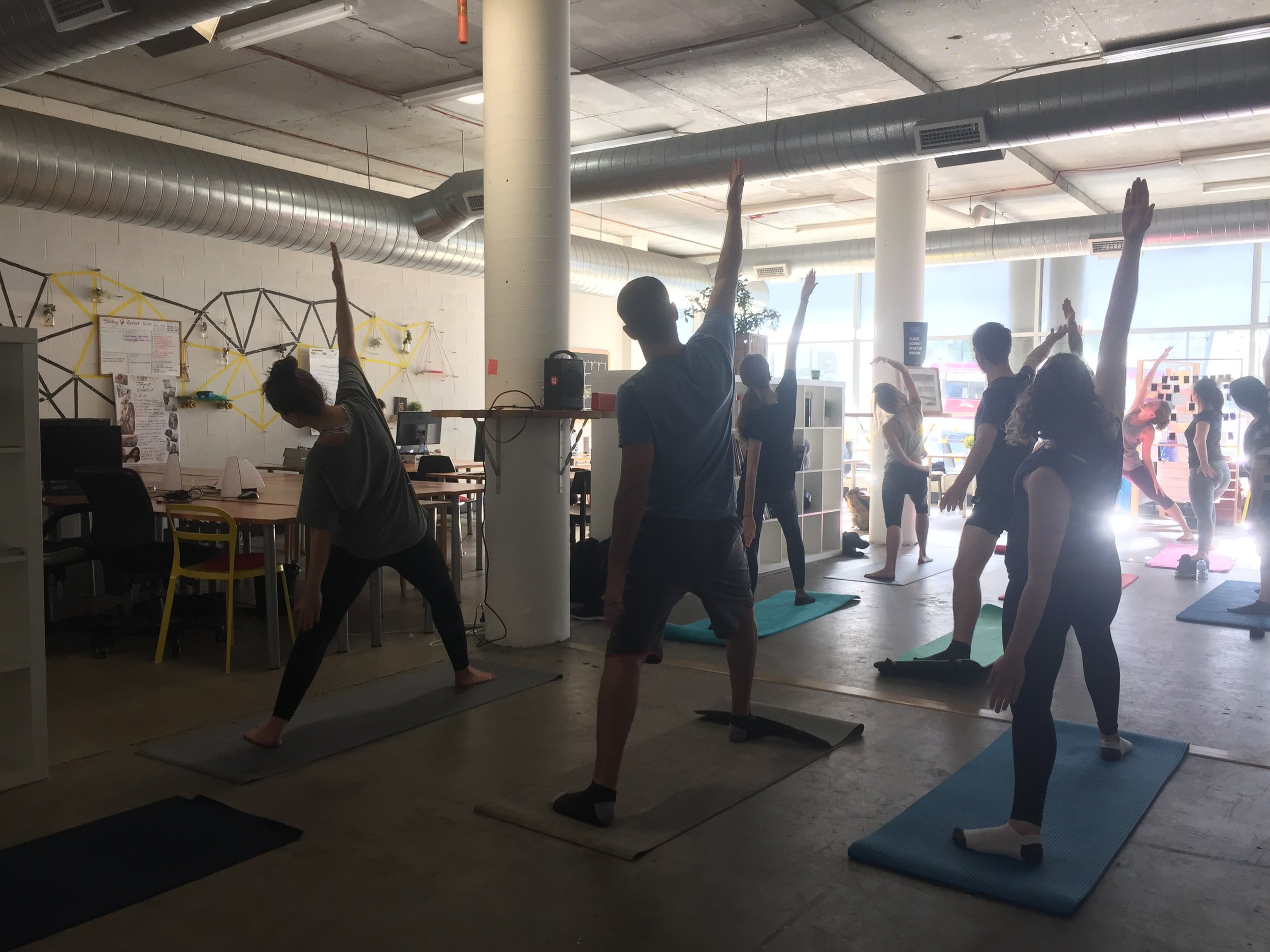 Experience leading corporate yoga and mindfulness classes to participants of all-levels