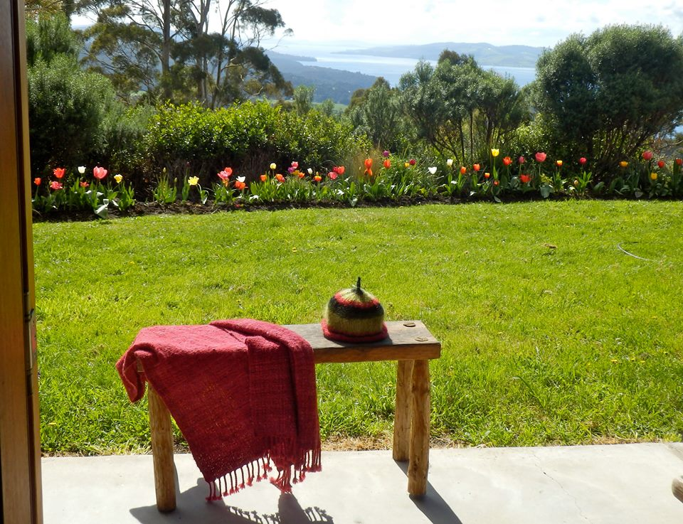 Hand woven items at Woodbridge Hill Handweaving Studio Woodbridge, Tasmania