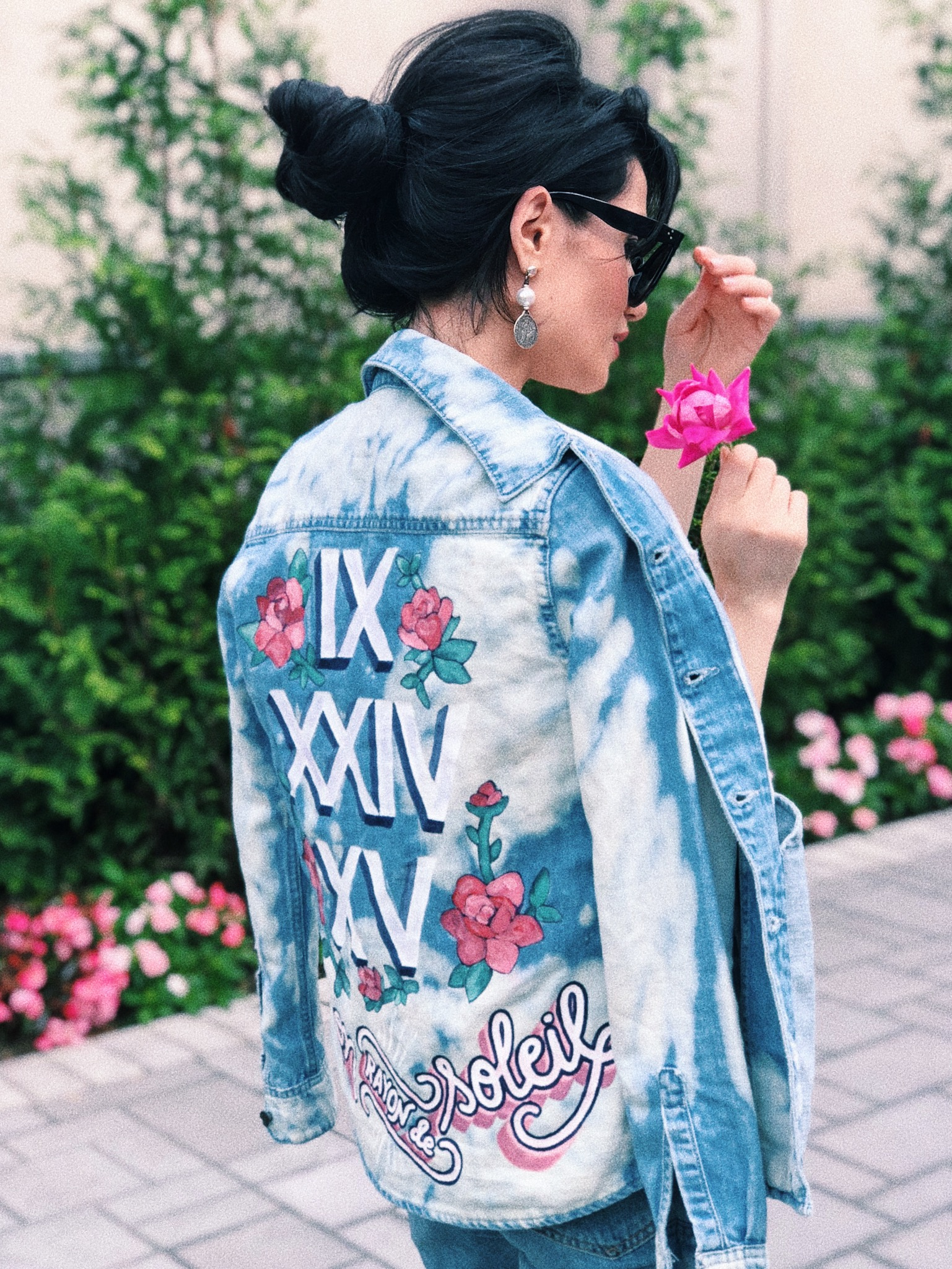 hand painted jackets -