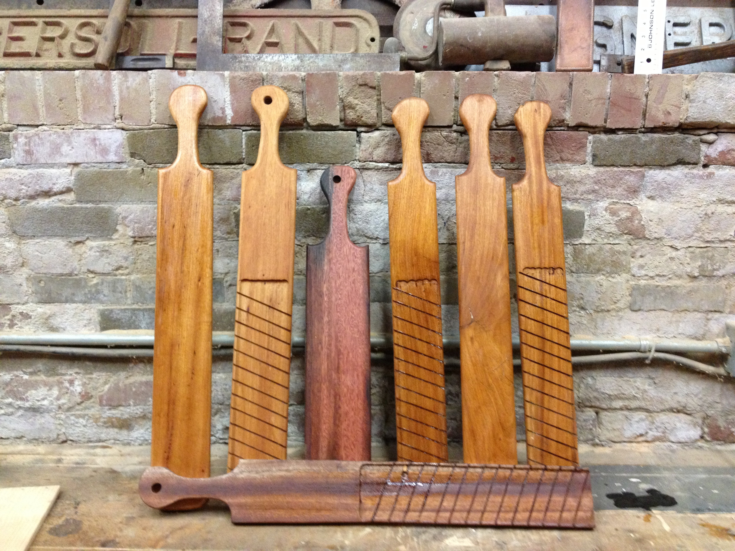 BeReclaimed - Reclaimed Wood Serving Paddles - Elm Oak Cuban Mahogany.jpg