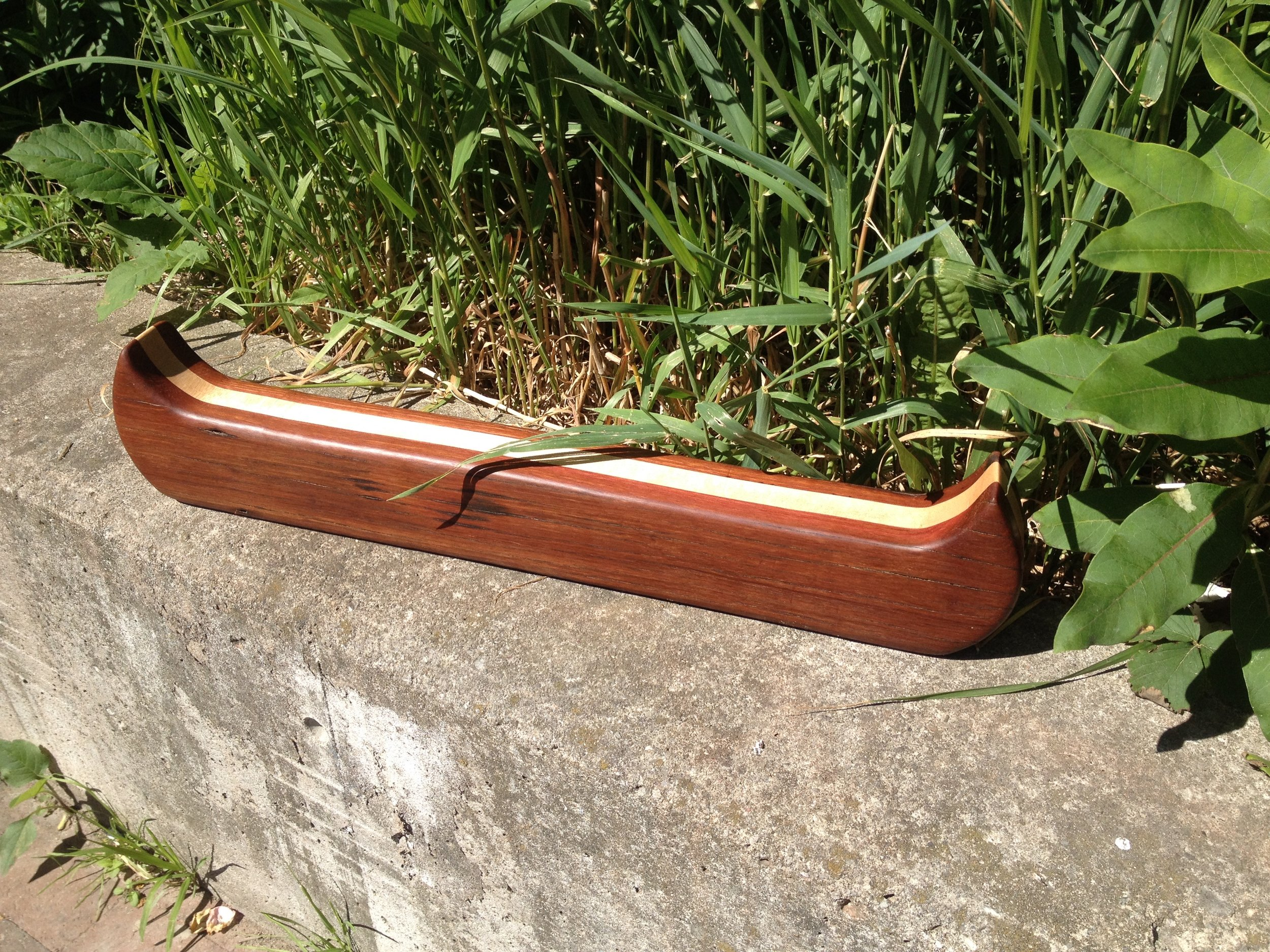 BeReclaimed - Reclaimed Wood Canoe - Wood Art and Sculpture - Cuban Mahongany and Maple.jpg