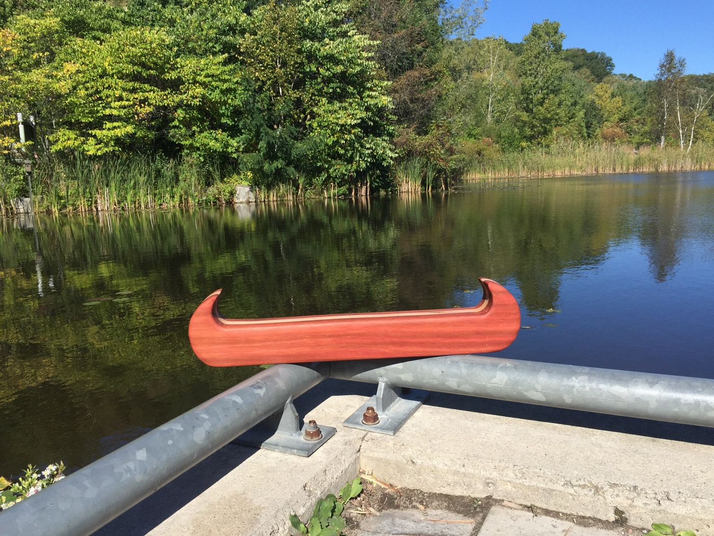 BeReclaimed - Reclaimed Wood Canoe - Wood Art - Evergreen Brick Works.jpg