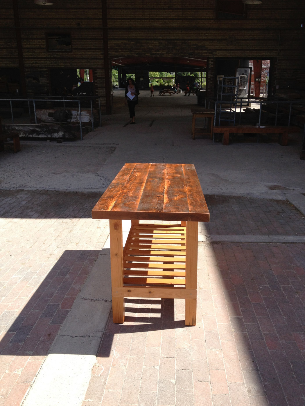BeReclaimed - Reclaimed Wood - Custom Douglas Fir Kitchen Island with Pot Rack - Evergreen Brick Works.jpg