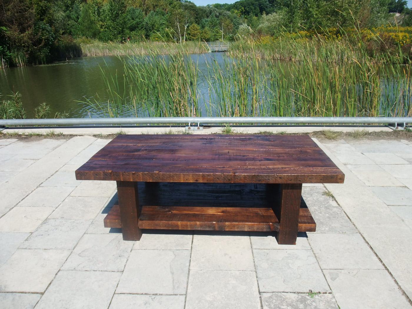 BeReclaimed - Reclaimed Wood Coffee Table - Custom Pine with Rustic Patina - Evergreen Brick Works.jpg