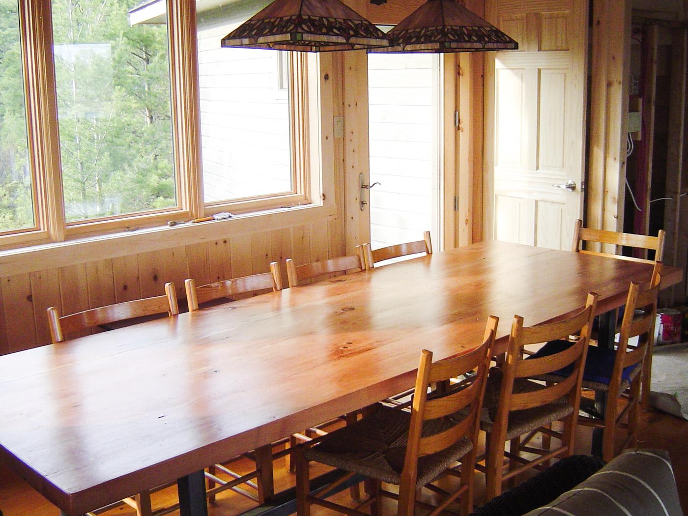 BeReclaimed - Reclaimed Wood Table - Douglas Fir with Custom Welded Steel Frame - Muskoka Ontario.jpg