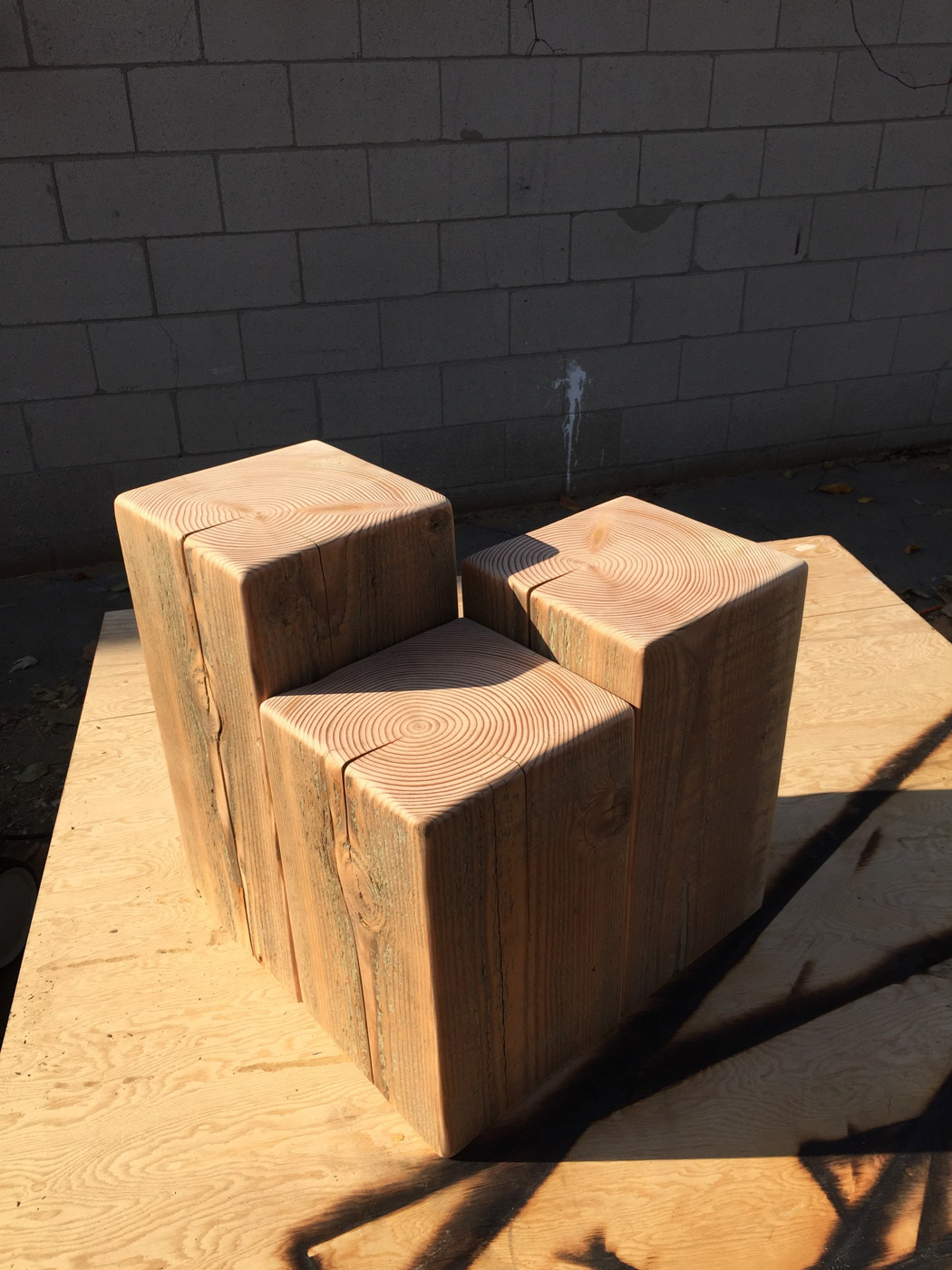BeReclaimd - Reclaimed Wood Side Tables - Douglas Fir - Rosedale Toronto.jpg