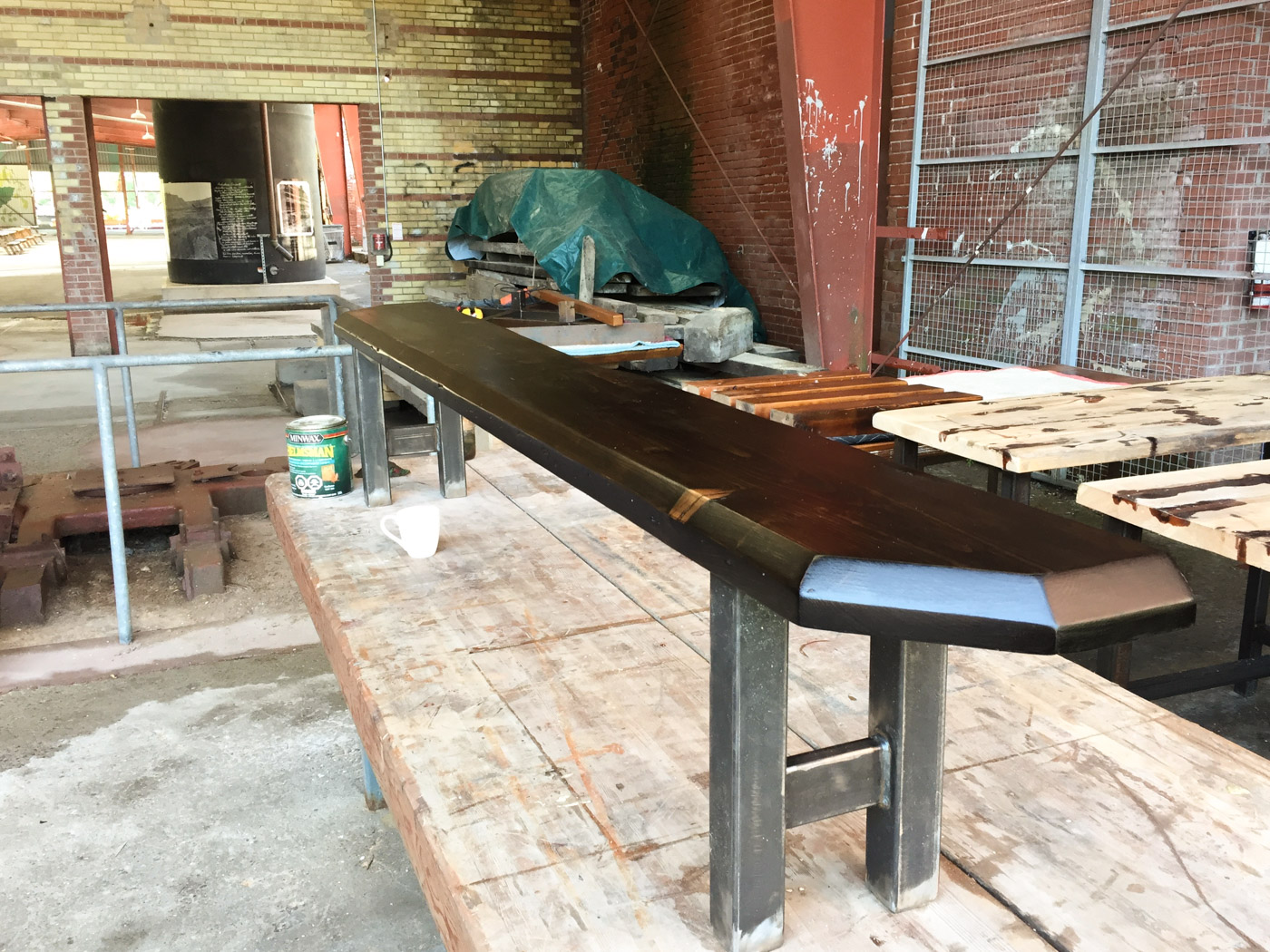 BeReclaimed - Reclaimed Wood Bench - Bespoke Douglas Fir with Steel Legs - Cabbagetown Toronto.jpg