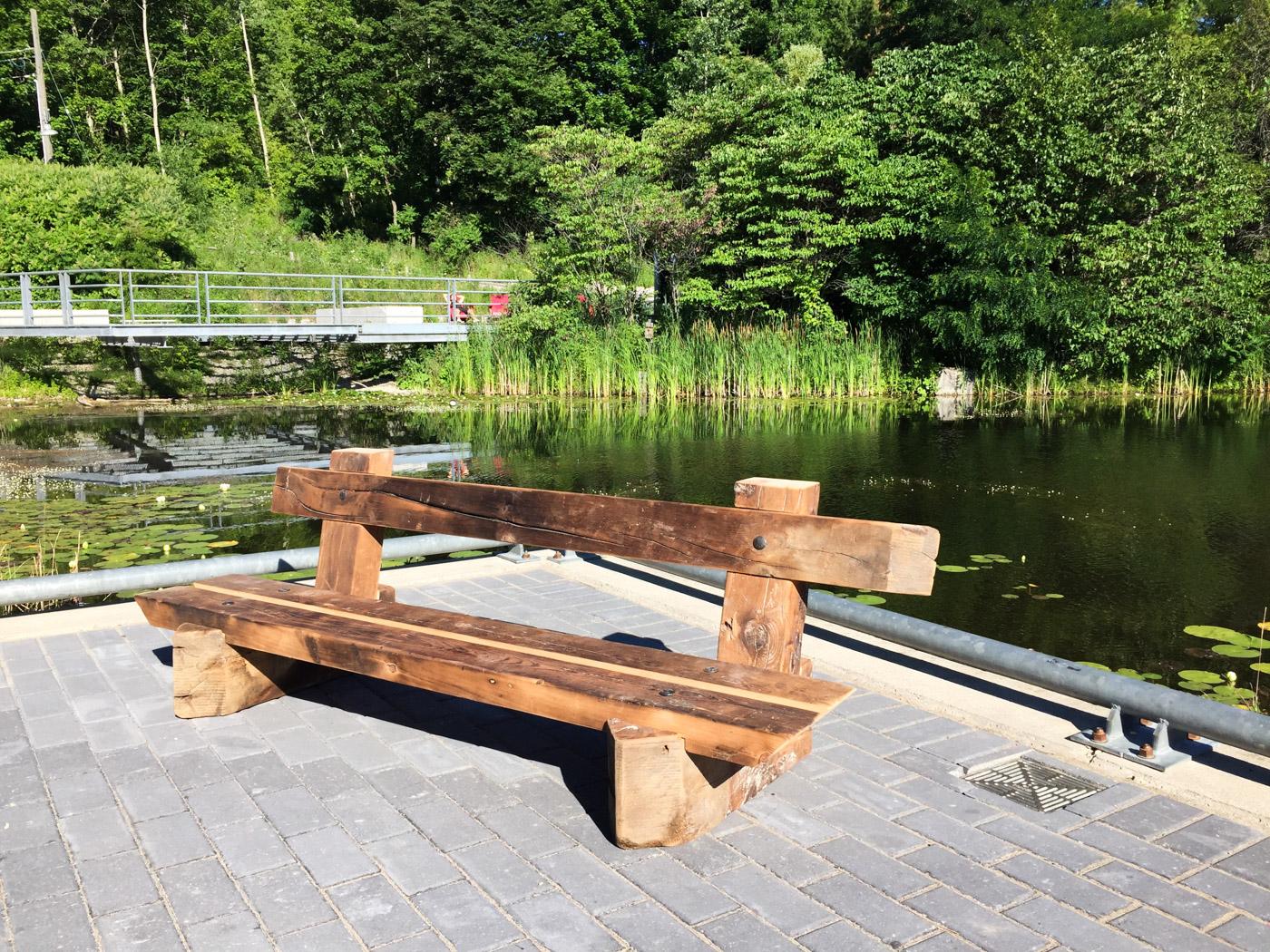 BeReclaimed - Reclaimed Wood Bench - Salvaged Pine Beams - Evergreen Brick Works.jpg