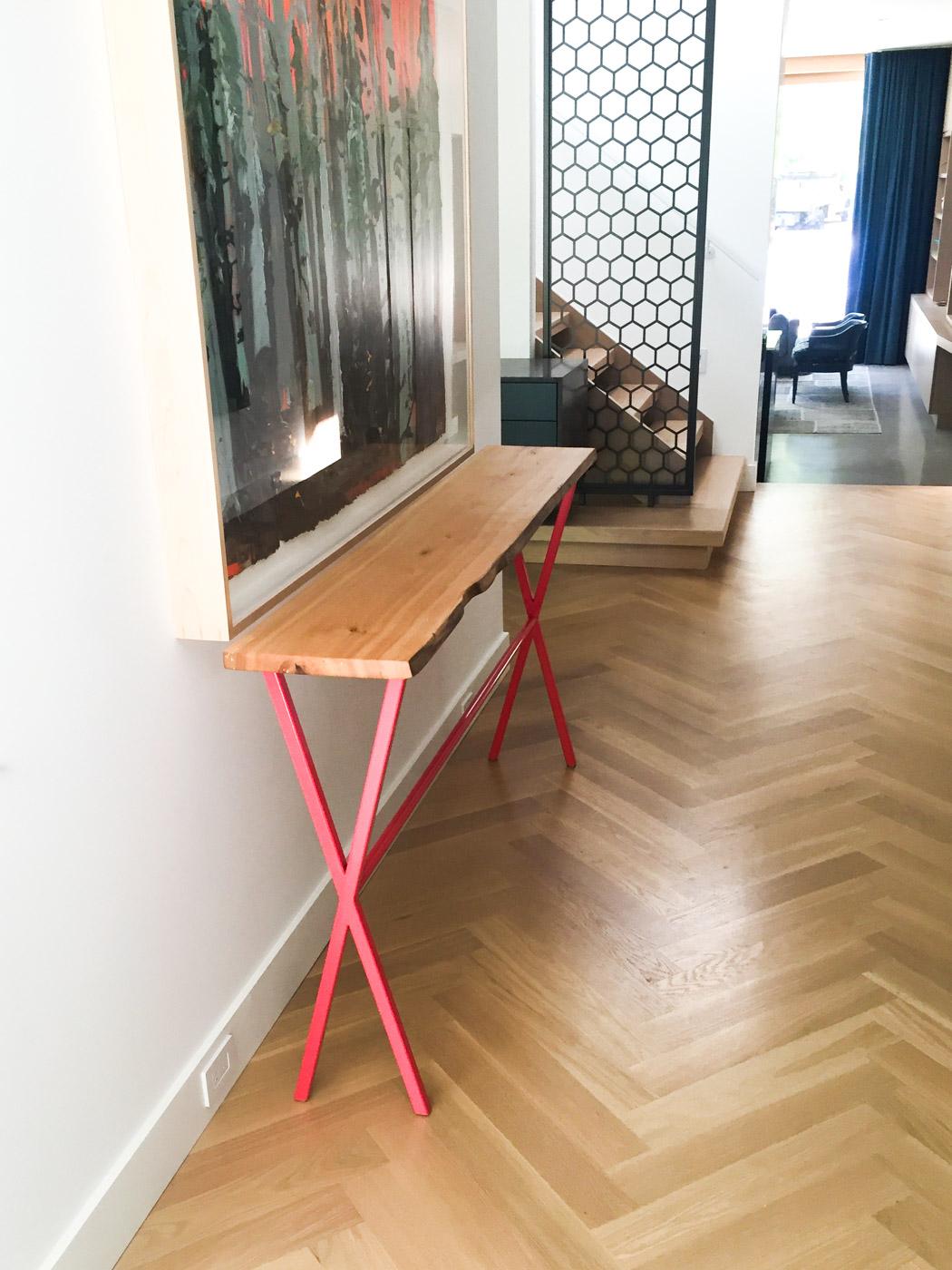 BeReclaimed - Reclaimed Wood Entry Table - Custom Elm Entry Table - Bennington Heights Toronto.jpg