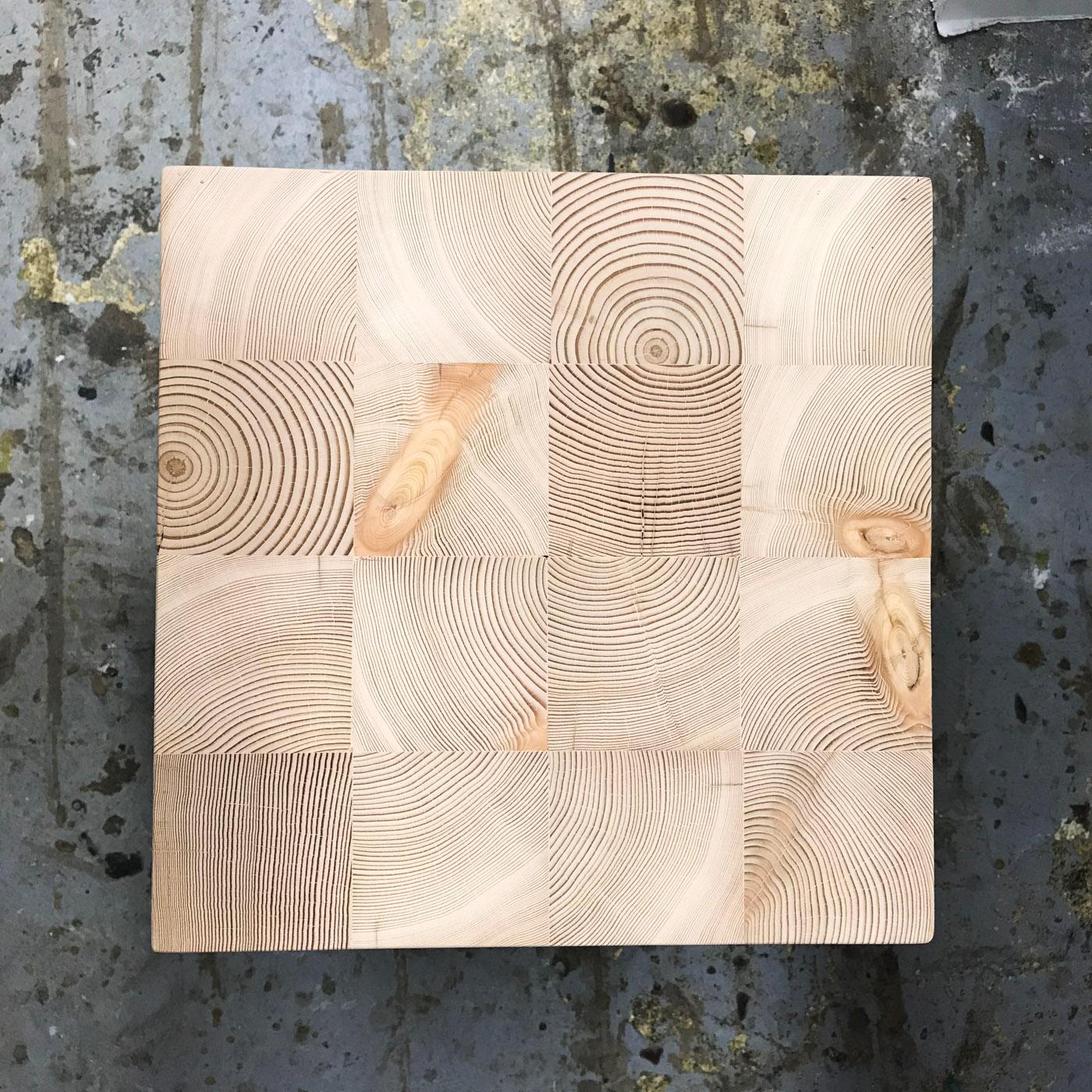 BeReclaimed - Reclaimed Wood Side Table - Detail of Endgrain Douglas Fir - Distillery District Toronto.jpg