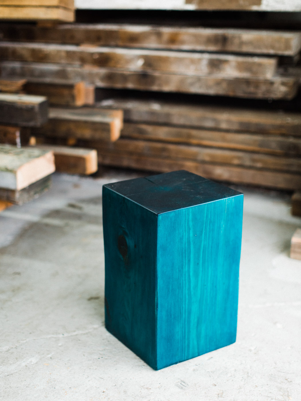 BeReclaimed - Reclaimed Wood Stool - Pine Side Table - Collingwood Ontario.jpg