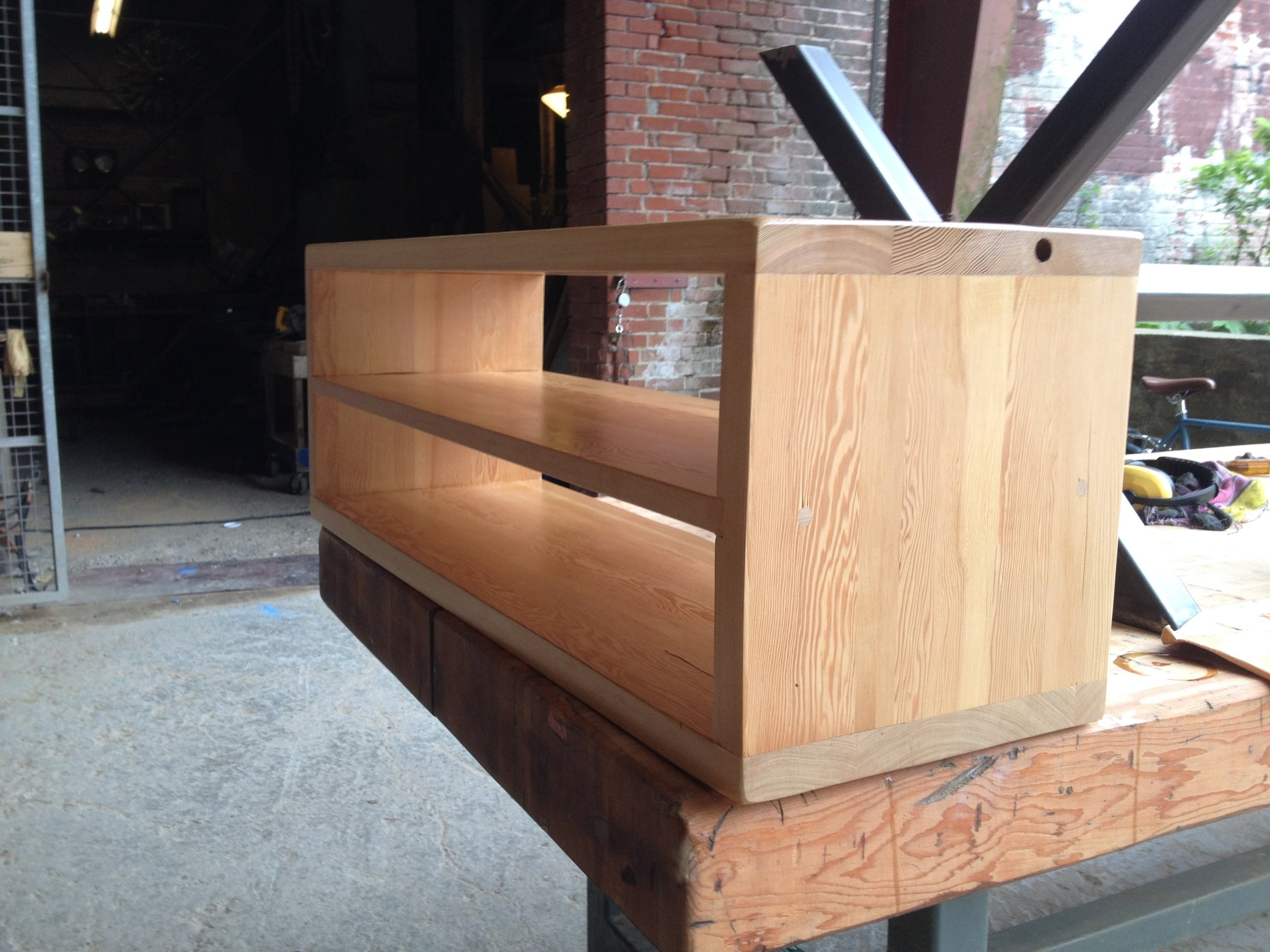 BeReclaimed - Reclaimed Wood TV Console - Cypress Salvaged from Beaches Toronto.jpg
