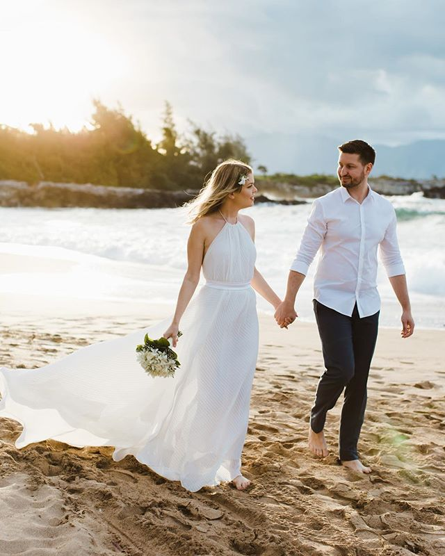 These two came all the way from Hungary to get married on a maui beach. I'd say it was worth it ✨✨✨ . . . . .  #chantellekananiphotography  #hawaiiweddingphotographer #weddingphotographer #romanticwedding  #elopementlove #tropicalwedding  #couplegoals #dirtybootsandmessyhair #belovedstories #mauielopementphotographer #mauiweddingphotographer  #oahuweddingphotographer #kauaiweddingphotographer  #destinationweddingphotographer #togetherjournal #radlovestories  #wildelopements #destinationweddingphotographer  #theknotweddings #theknothawaii #unconventionaltogs #authenticlovemag #loveandwildhearts #weddinglegends #justalittleloveinspo #radcouples #wanderingweddings  #mauiwedding  #mauielopement  #hawaiiwedding