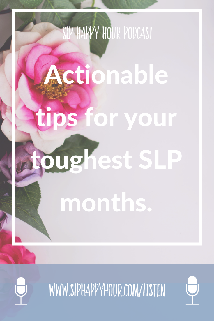 Are you dealing with a tough SLP month? Sarah and Sarie share the stories of their toughest SLP months yet. They share what they struggled with, how they handled it, and what they would do differently next time around. We all struggle, so let's share our experiences so we can navigate these sticky situations with more ease. #speechtherapy #slpselfcare