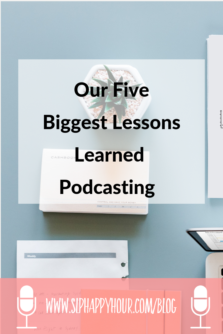 What have we learned our first year of podcasting? We share our five biggest lessons this year! #podcast #slpeeps