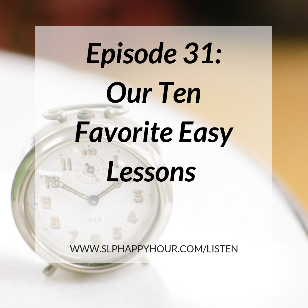 Want 10 easy low-prep lessons for your speech therapy session? This podcast episode offers practical, easy lessons you can use right away with your students! #slpeeps #speechtherapy
