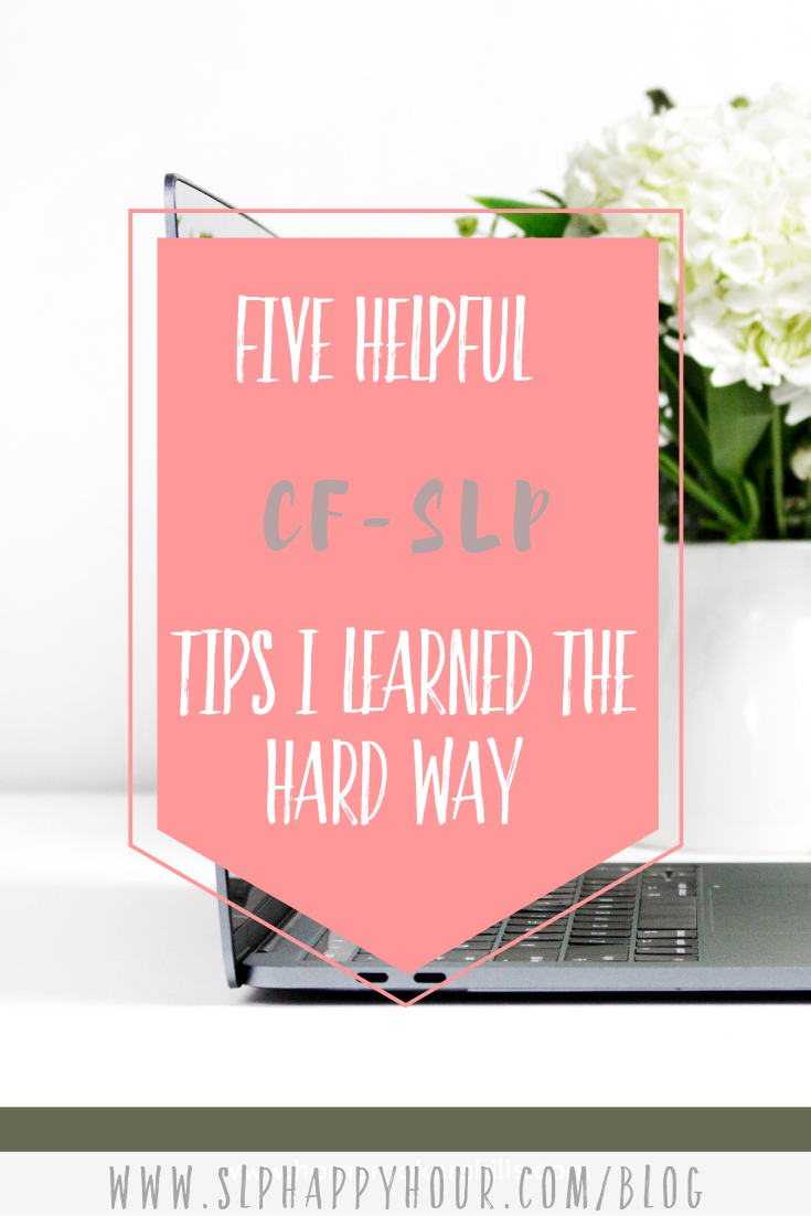 Are you a new-to-be SLP? This post is perfect for #slp2be folks. You'll learn what we did right (and wrong) during our tenure as a CF and what you can do to start off on the right foot! #slpeeps #speechtherapy