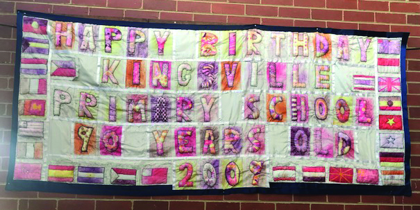 Kingsville 90 Year celebration quilt/tapestry