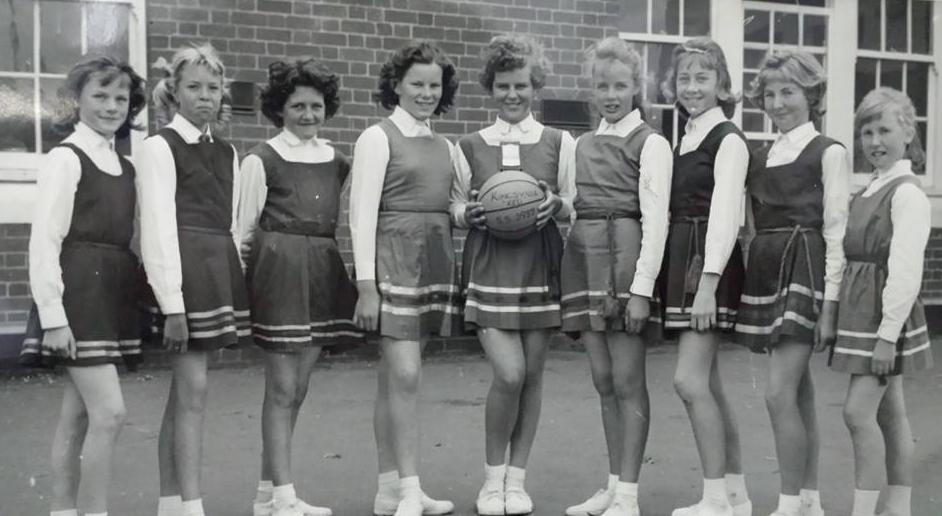 GIrls netball team, 1950s