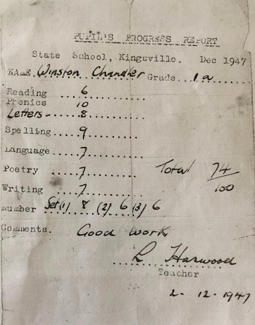 Student report from 1947