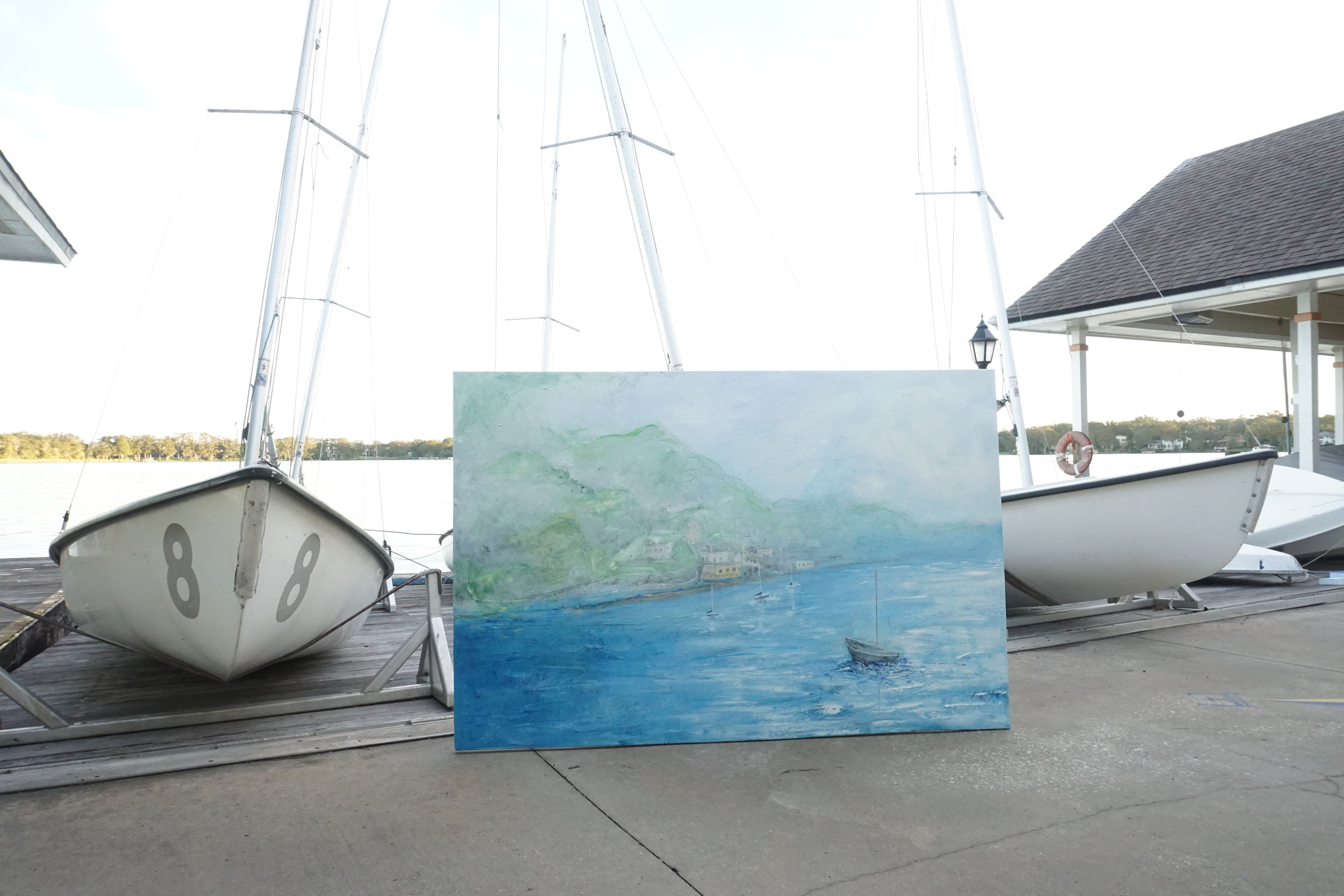 Lake Como, 48x72%22, Oil on canvas, $1,800.JPG