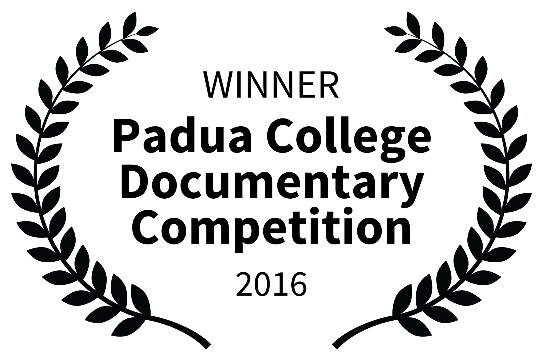 WINNER - Padua College Documentary Competition - 2016.png