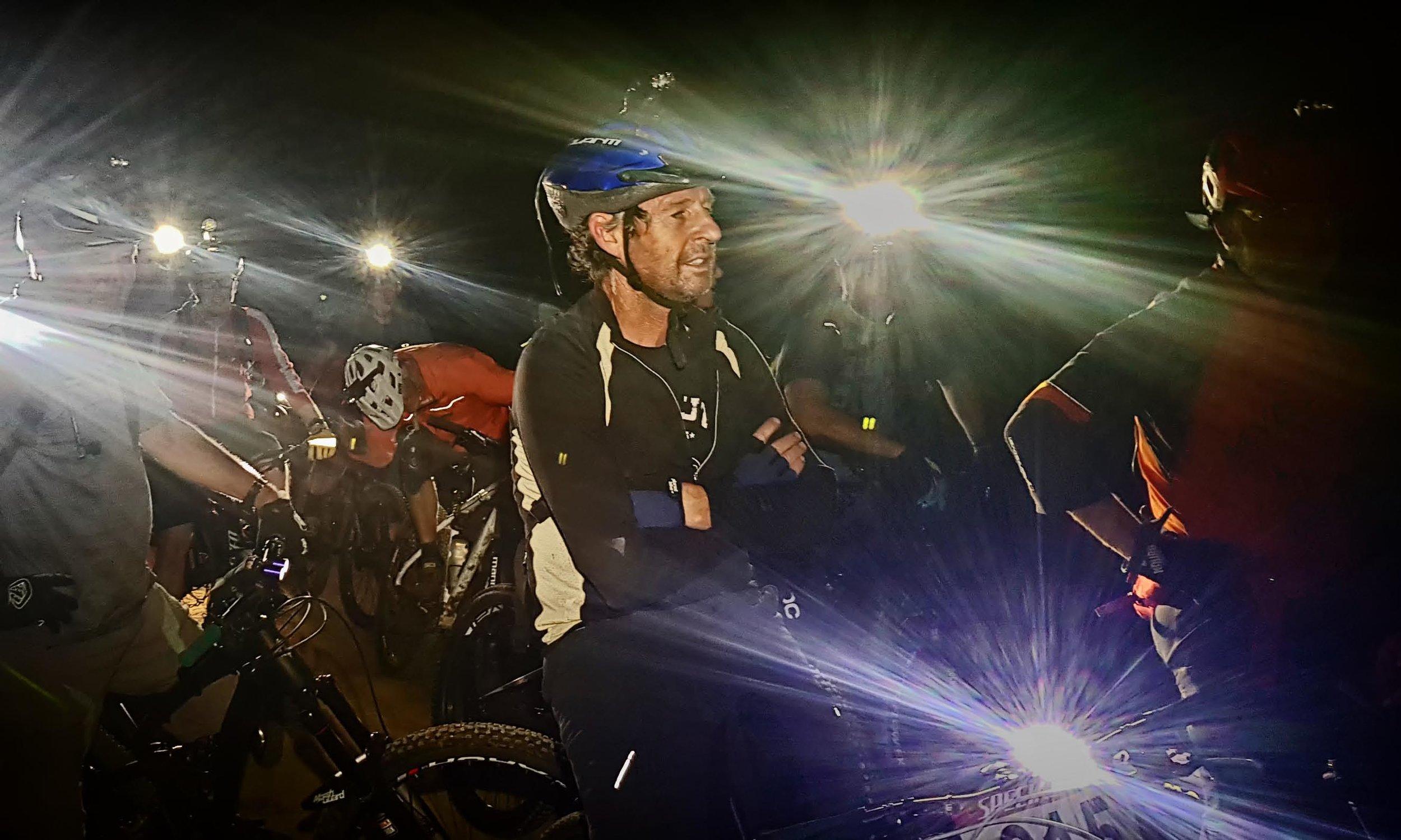 Benelong club riders on night ride at Gum Tree Mountain  Bike Park