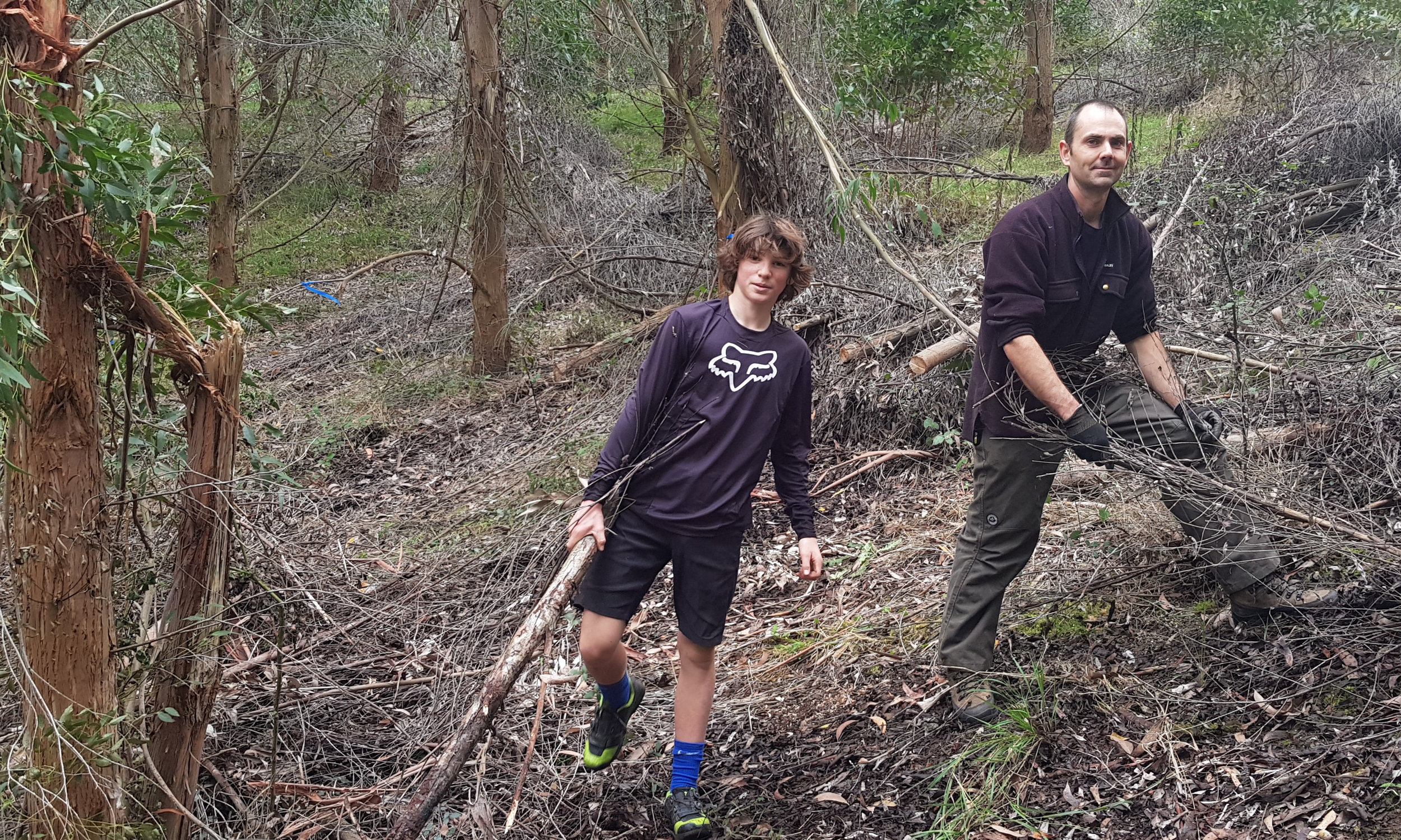 Clearing ground for new trails at the Gum Tree Mountain Bike Park