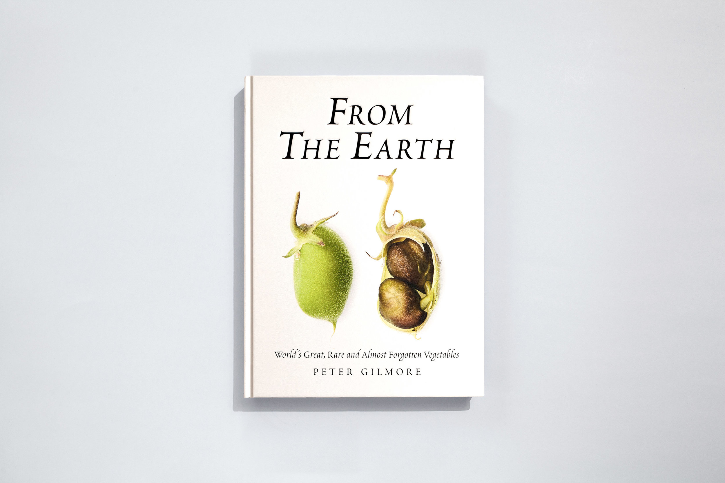 Title – From the Earth Author – Peter Gilmore Designer – Daniel New Photographer – Brett Stevens Publisher – Hardie Grant Books  New York Rights Fair – 2019 + Honourable mention for Excellence in Graphic design