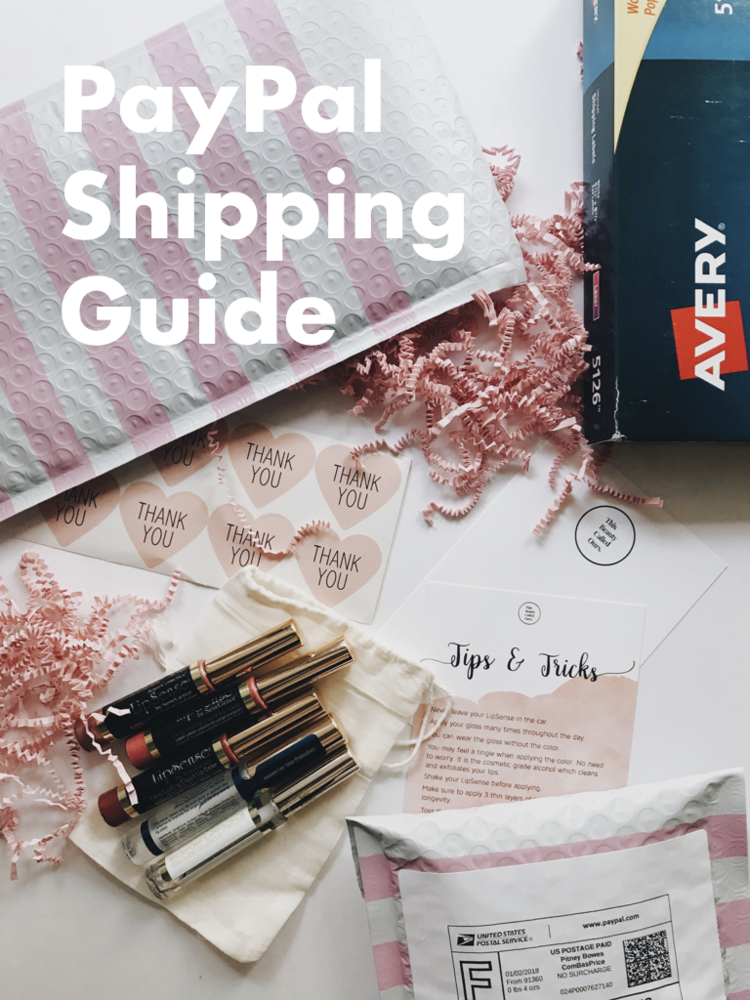 PayPaul Shipping Guide for SeneGence Distributors selling LipSense